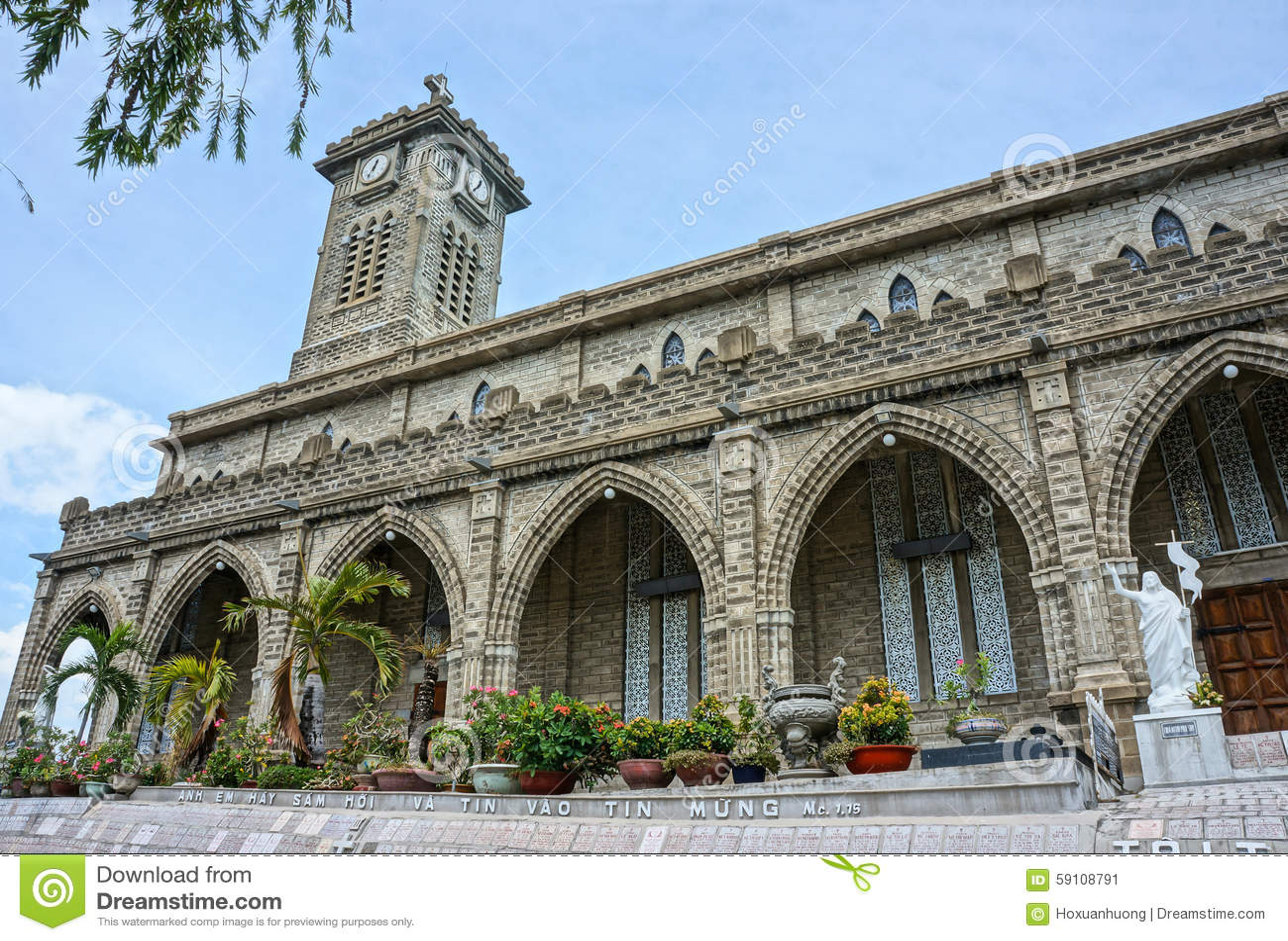 石教会,古老大教堂, nha trang,越南