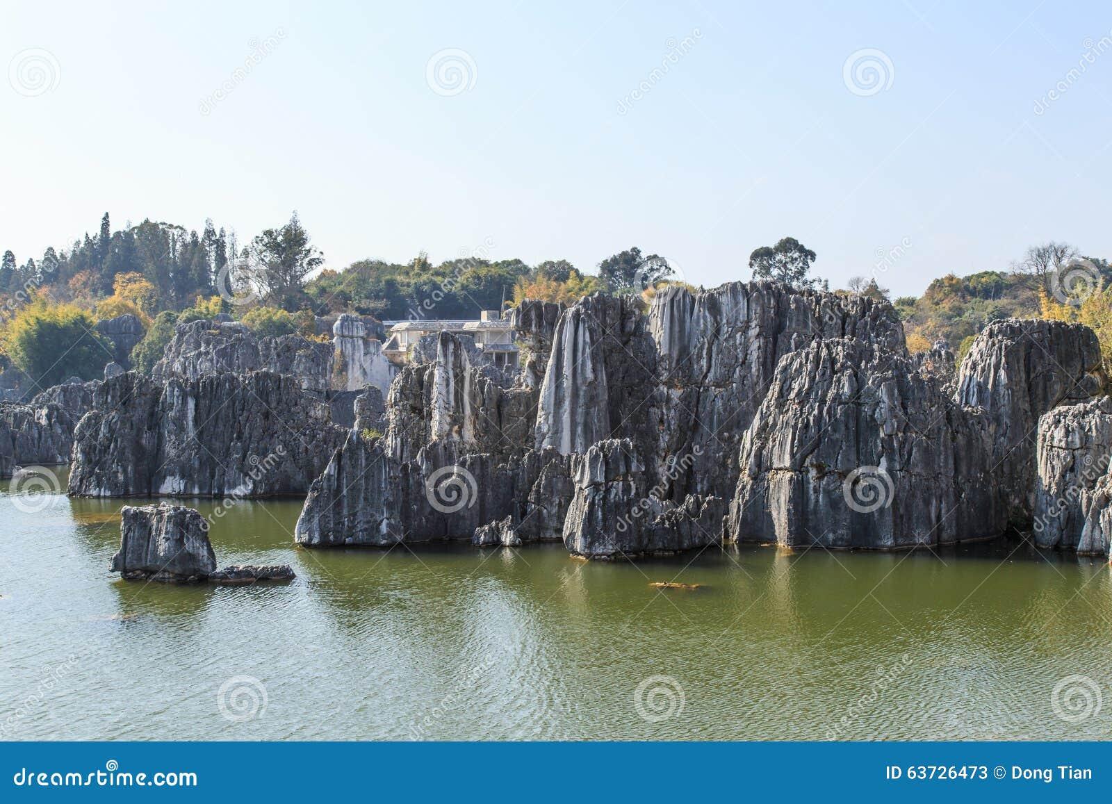 石森林独特的地质风景.图片