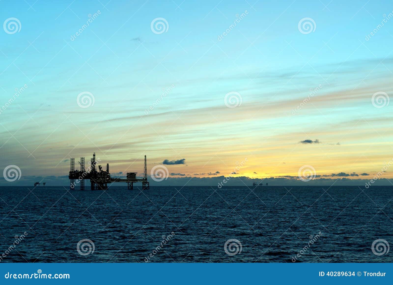 石油平台在北海