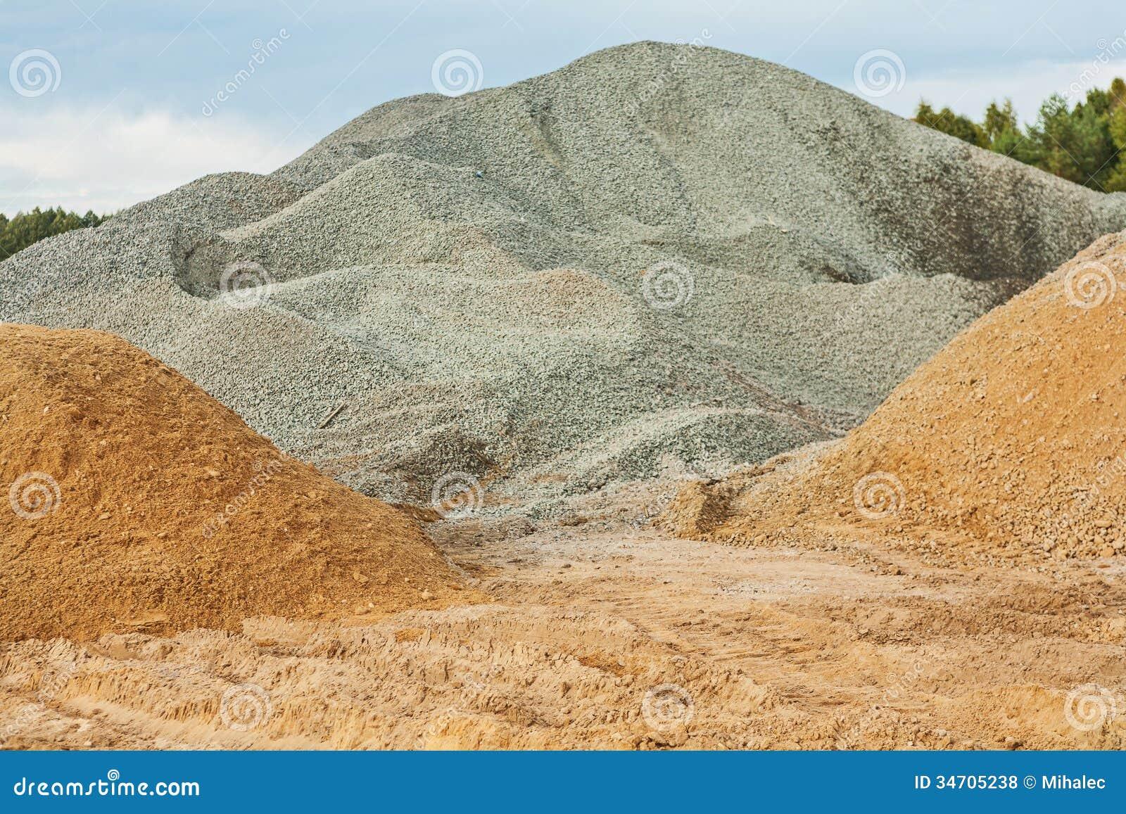 石渣和沙子