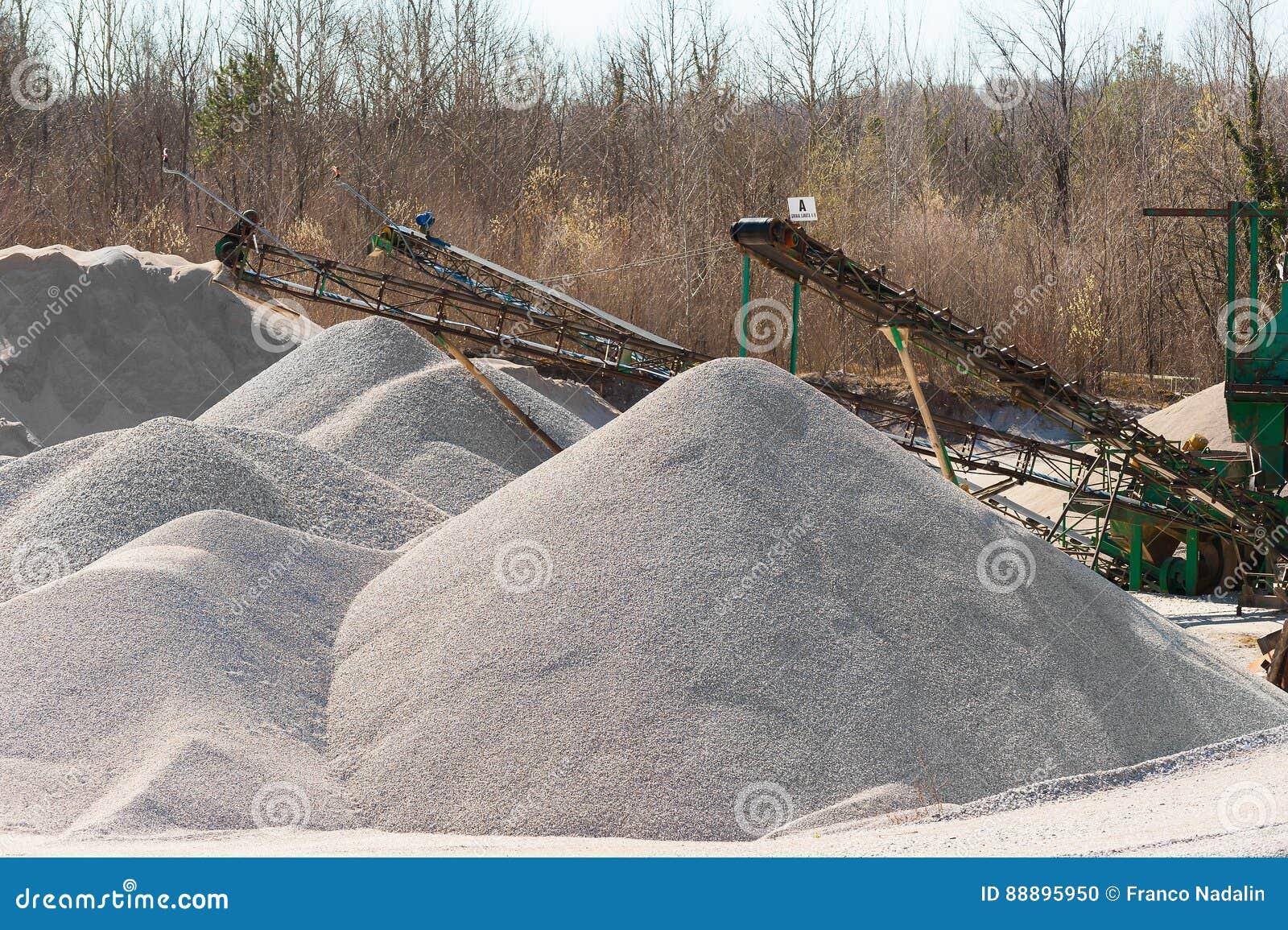石渣聚集提取 机械发行和classifi