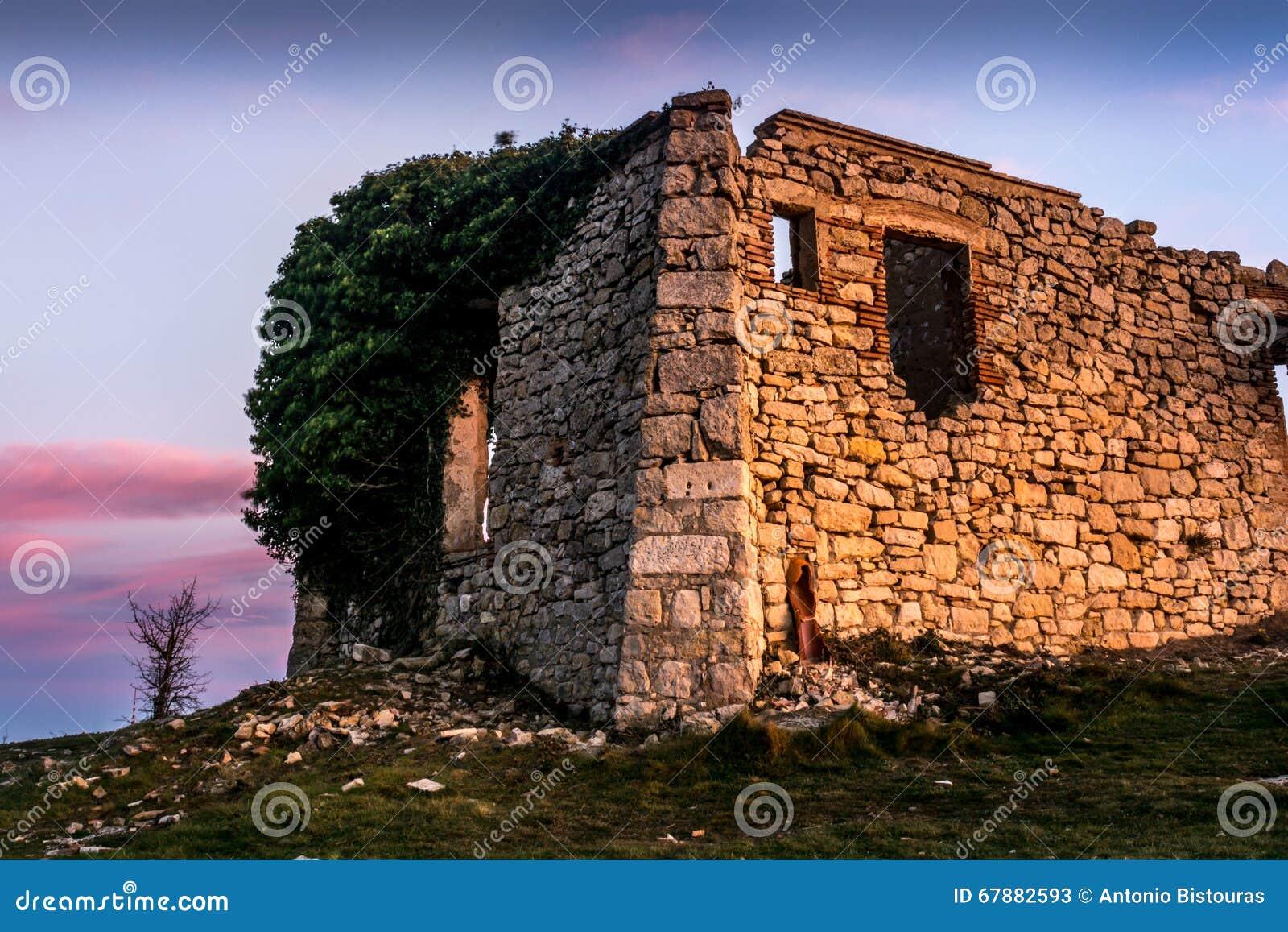 石头一个老房子的Mussara废墟