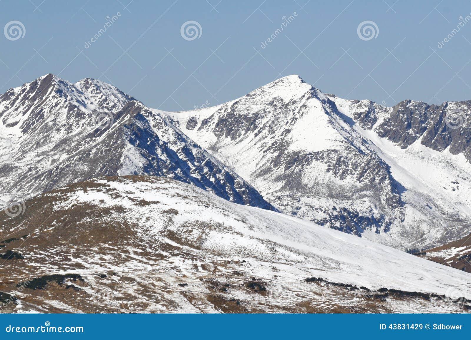 洛矶山国家公园积雪的山
