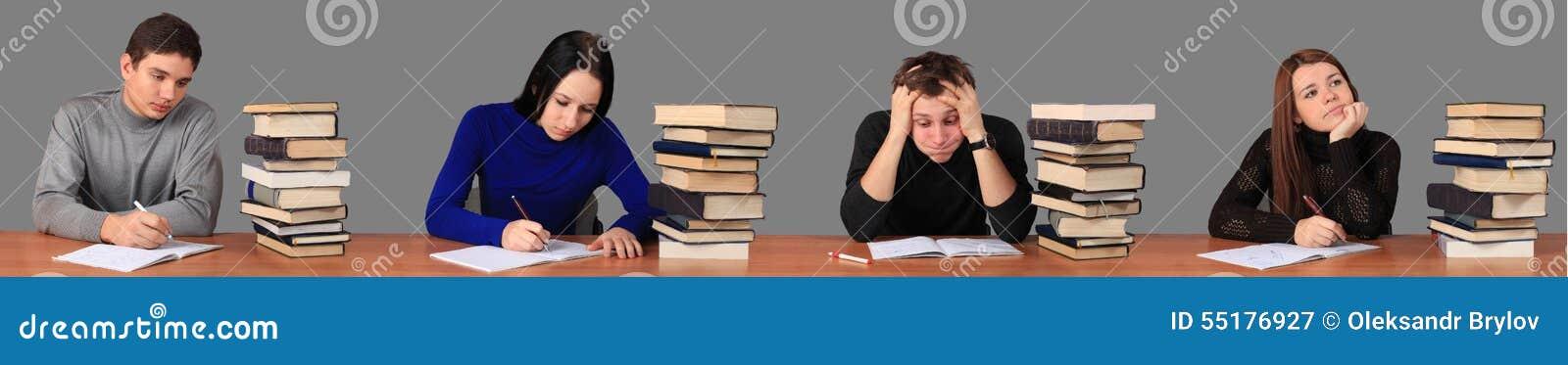 研究任务的学生