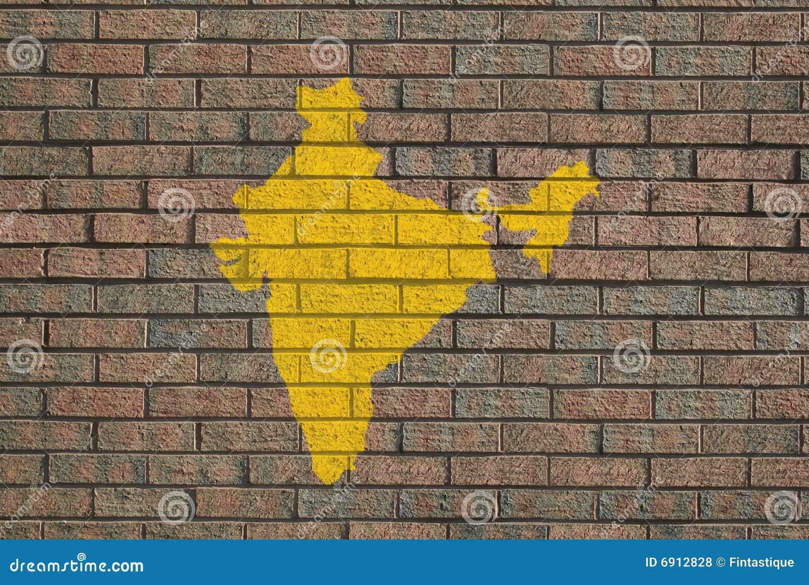 砖印度映射墙壁