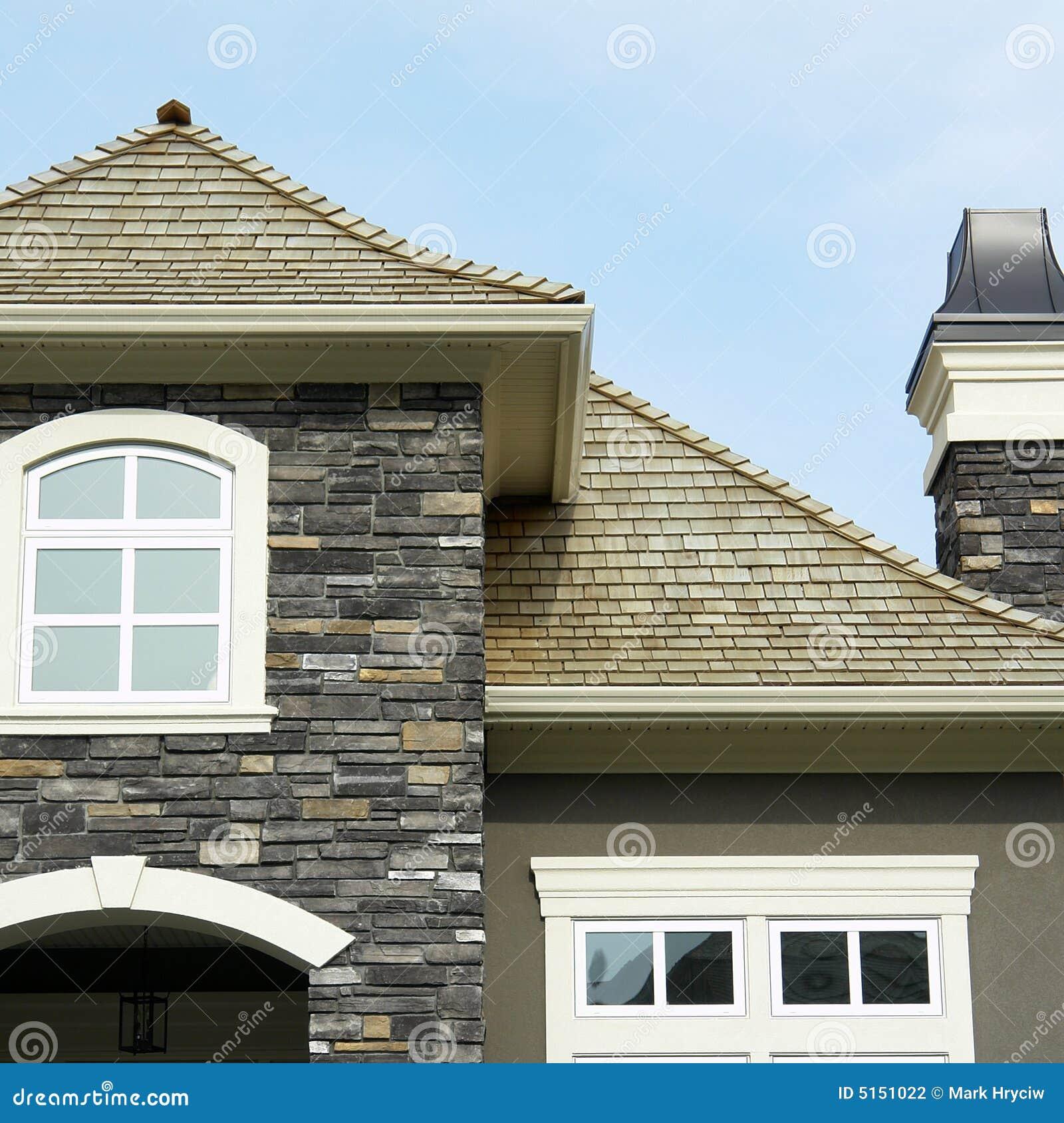 砖外部家庭房子