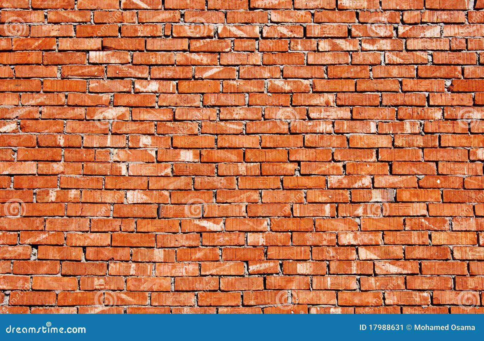 砖红色墙壁