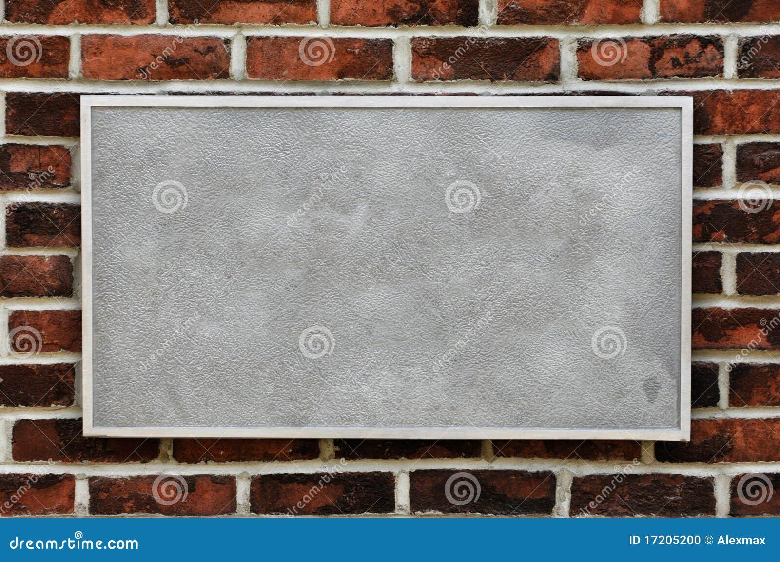砖金属符号墙壁