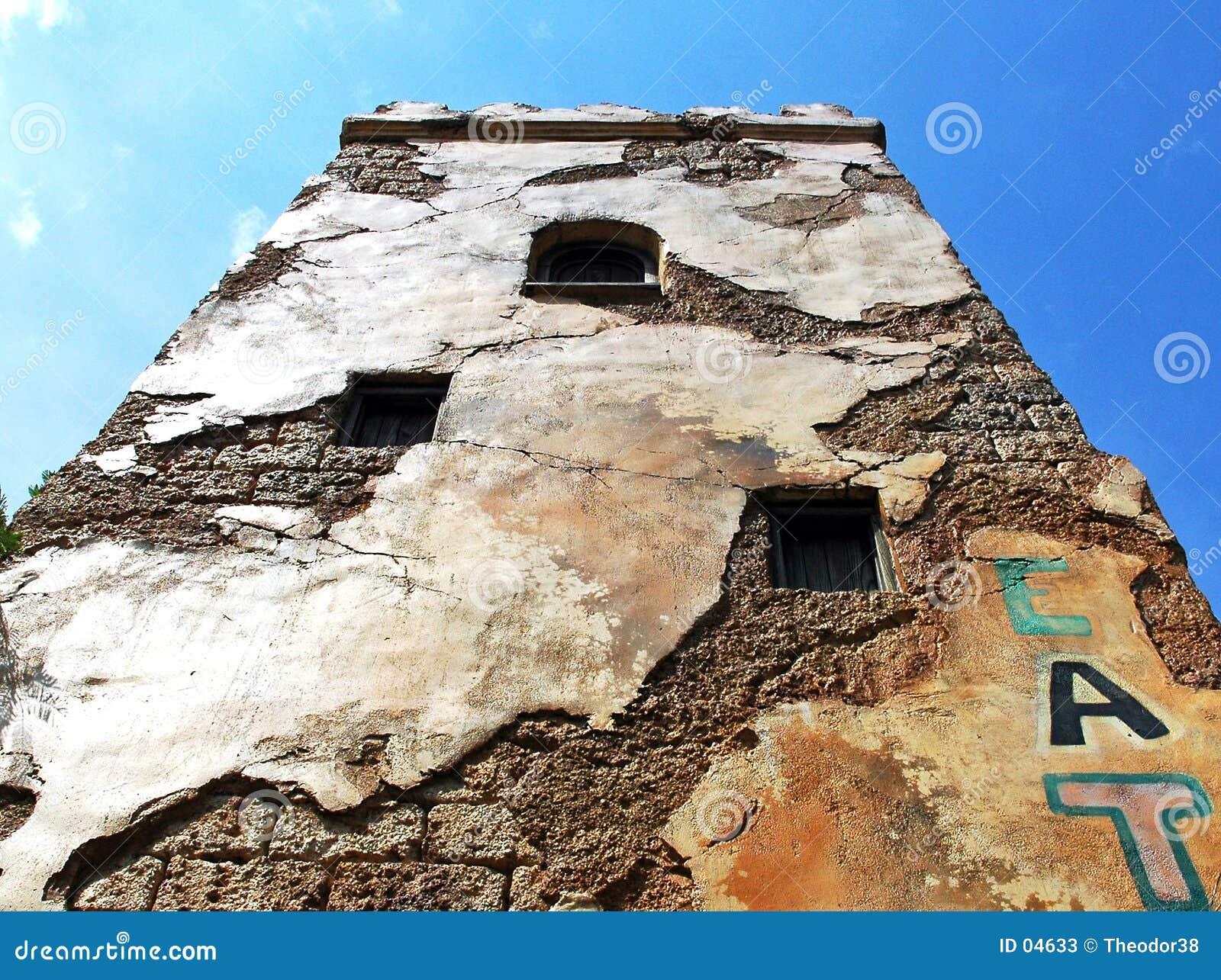 破裂的墙壁