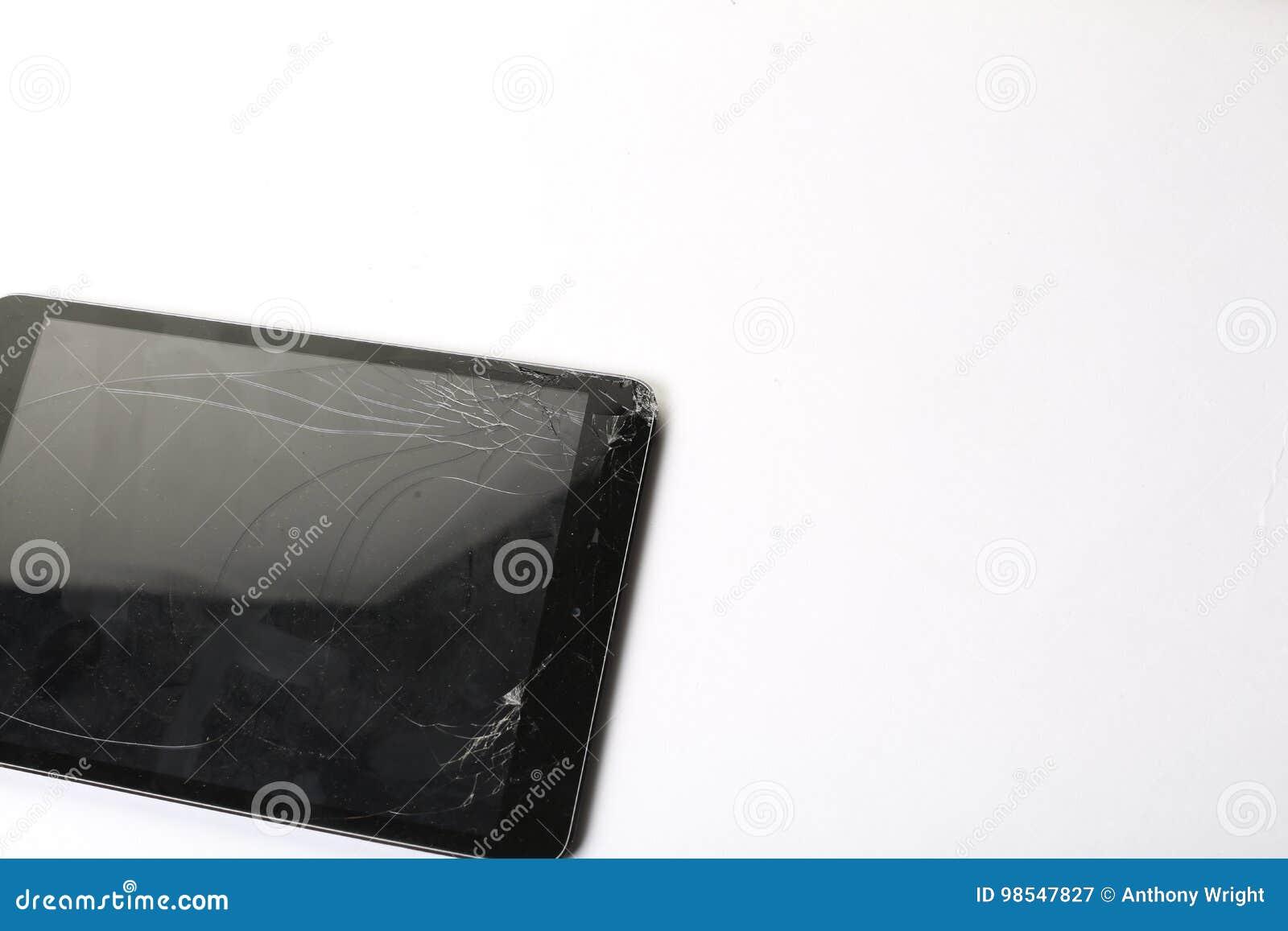 破裂的片剂屏幕