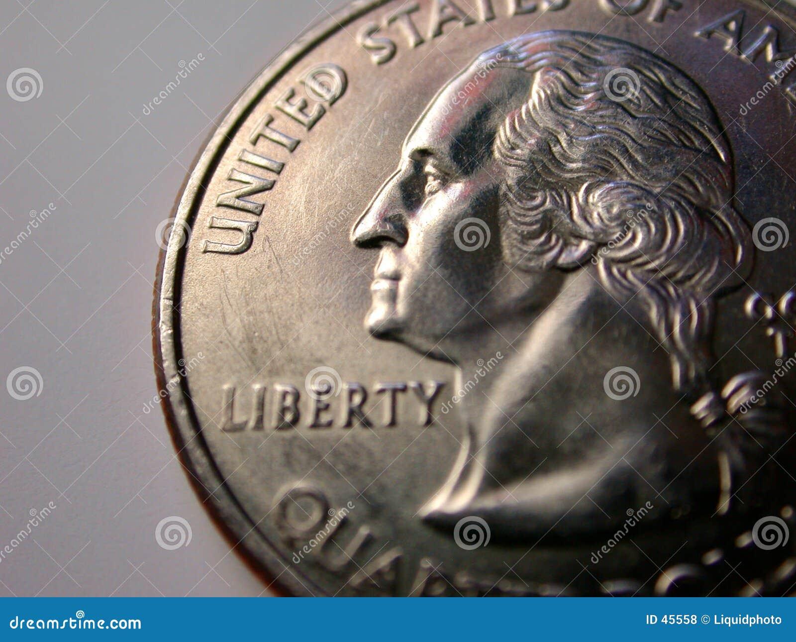 硬币四分之一美国