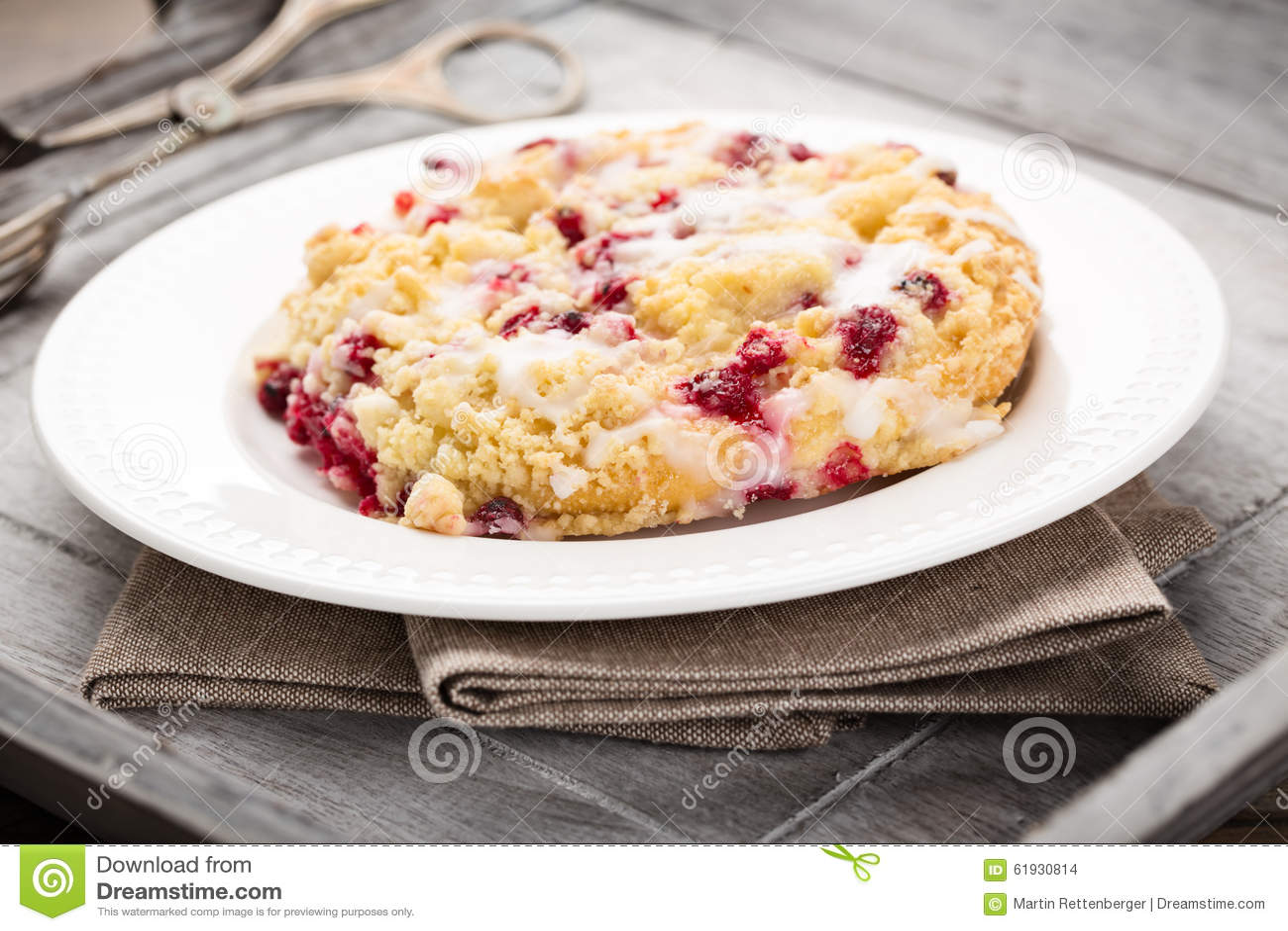 碎屑蛋糕用红浆果