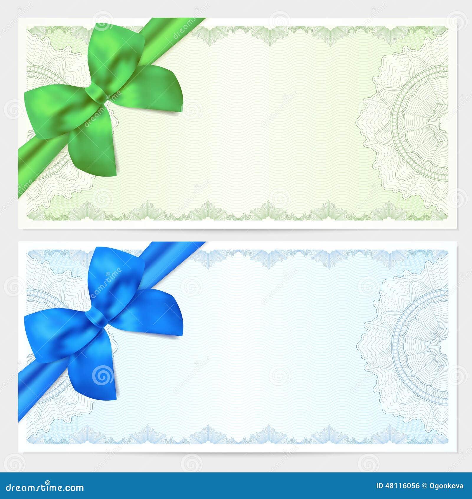 Ǥ�券,证件,与弓的优惠券模板 Ő�量例证 ś�片 48116056
