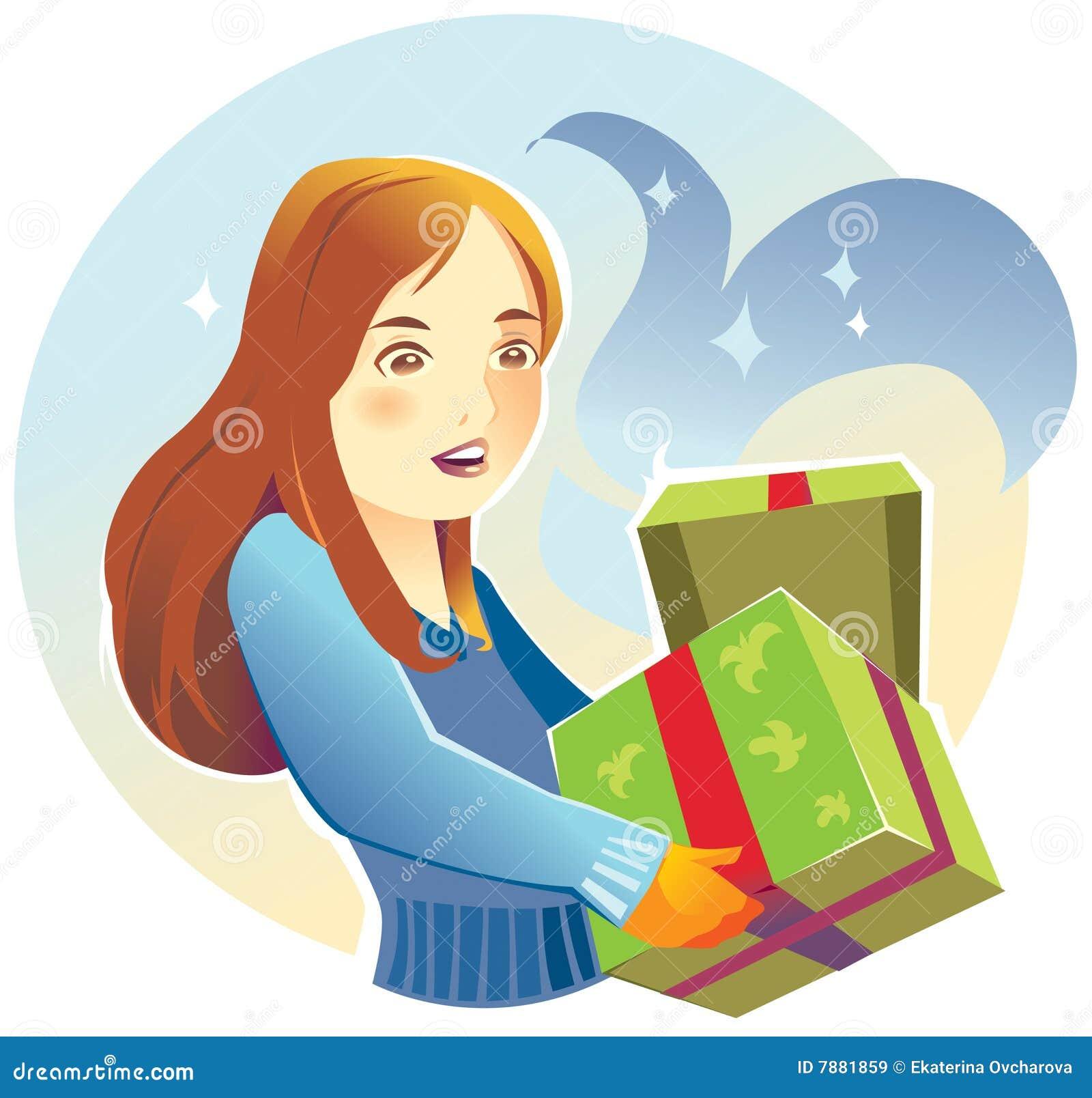 礼品妇女年轻人