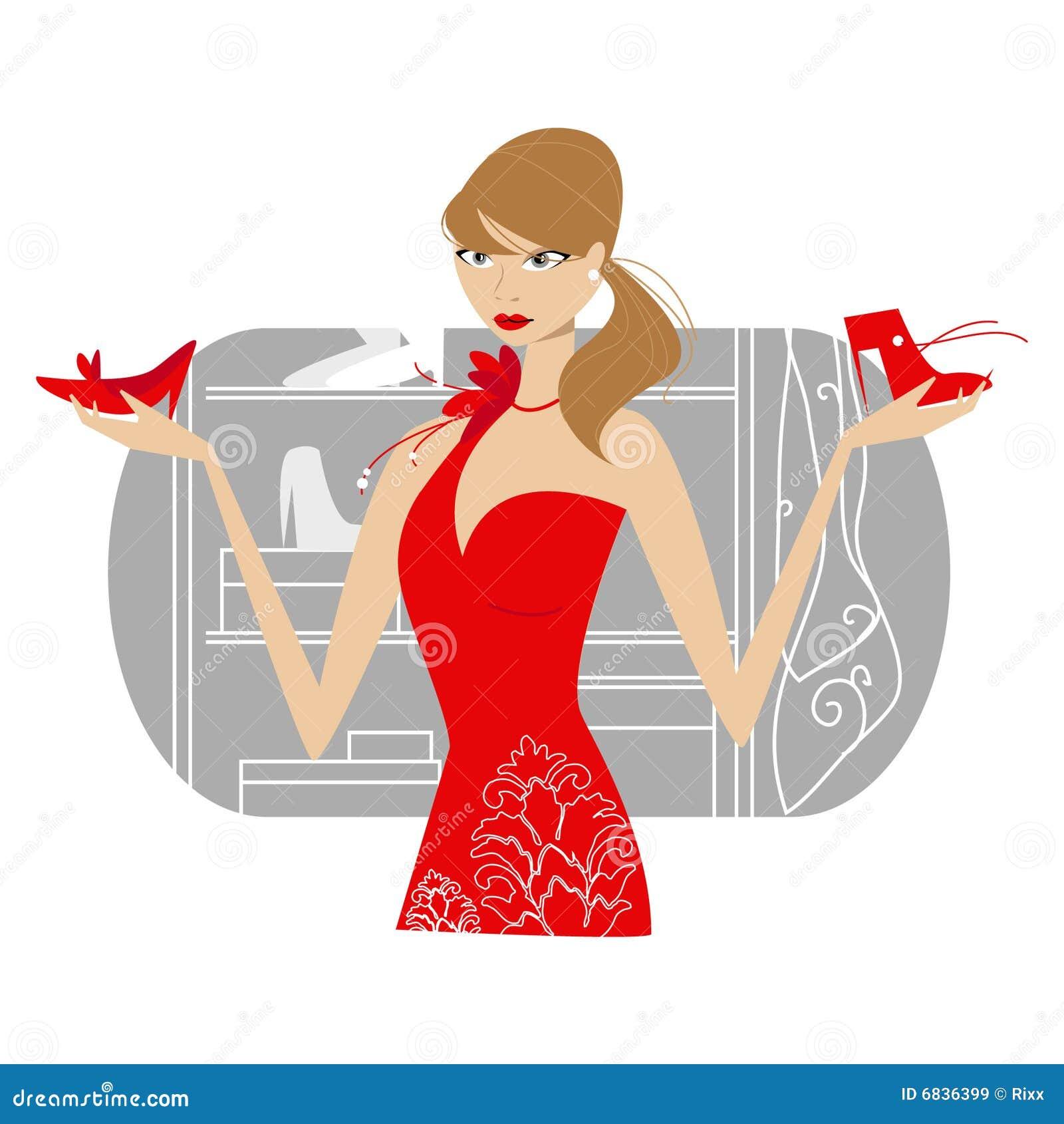 礼服女孩红色