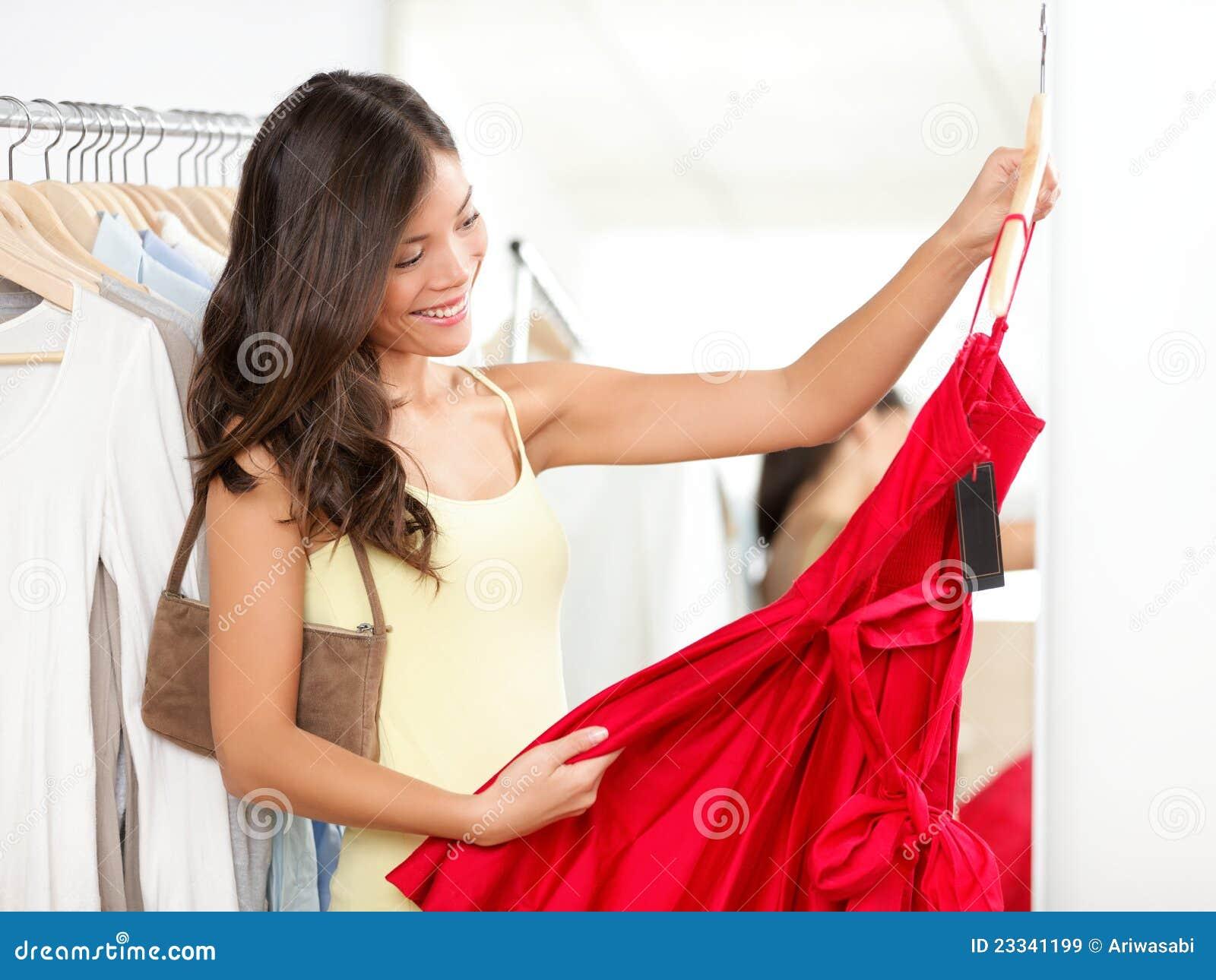 礼服购物妇女