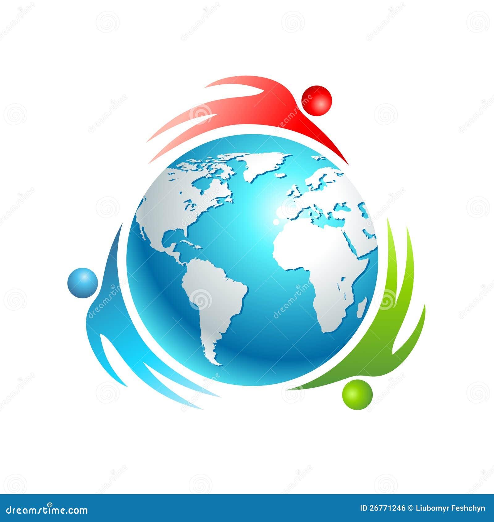 社会世界图标。 概念向量人