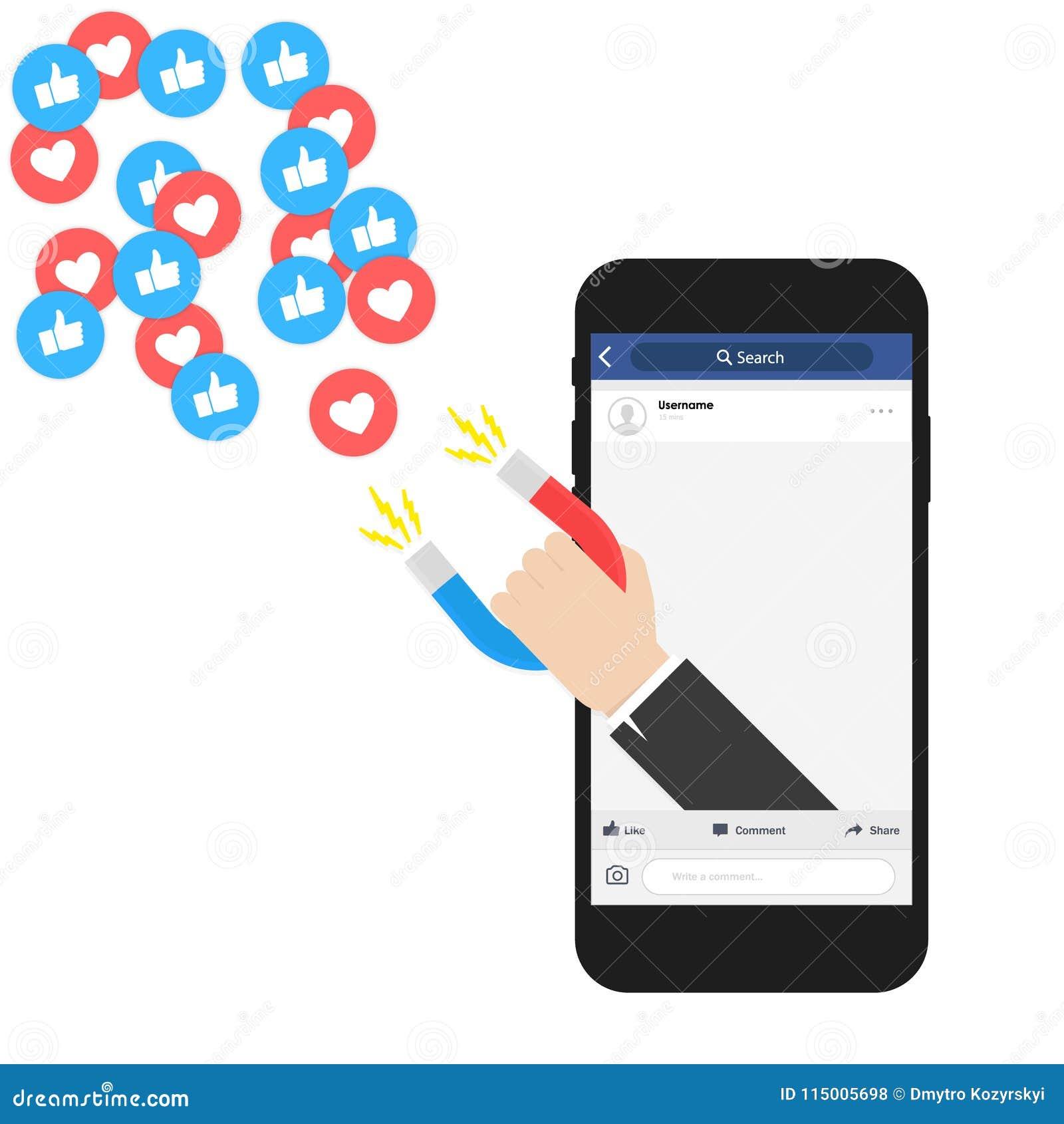 社会媒介网上营销 数字式广告广告 强有力influencer行销是象磁场
