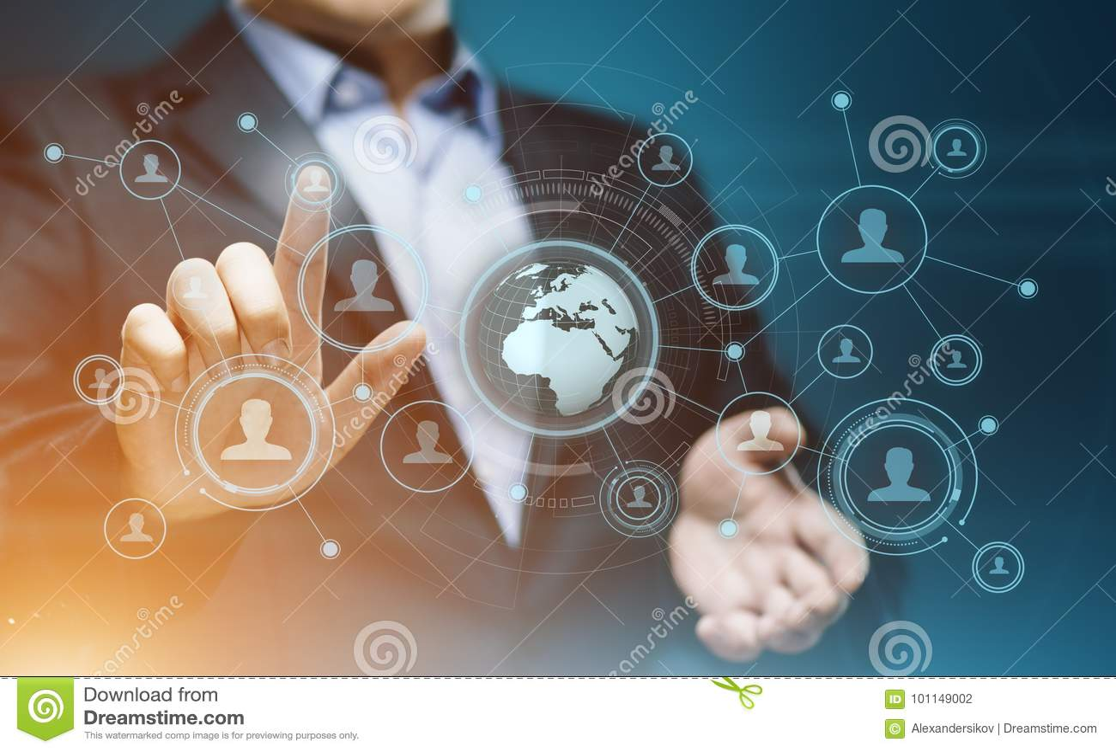 社会媒介通讯网络互联网企业技术概念
