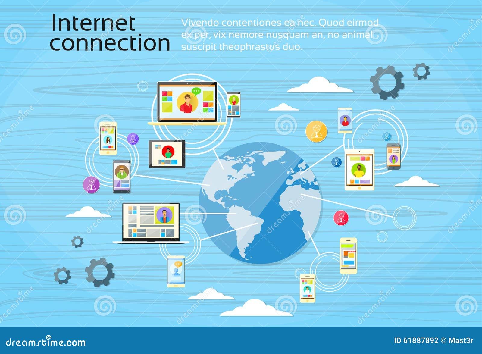 社会网络连接概念互联网设备