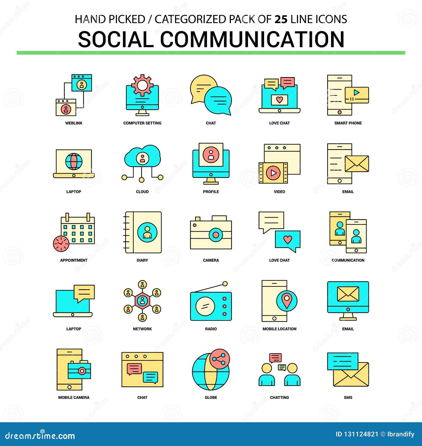 社会通信平的线象集合-企业概念象
