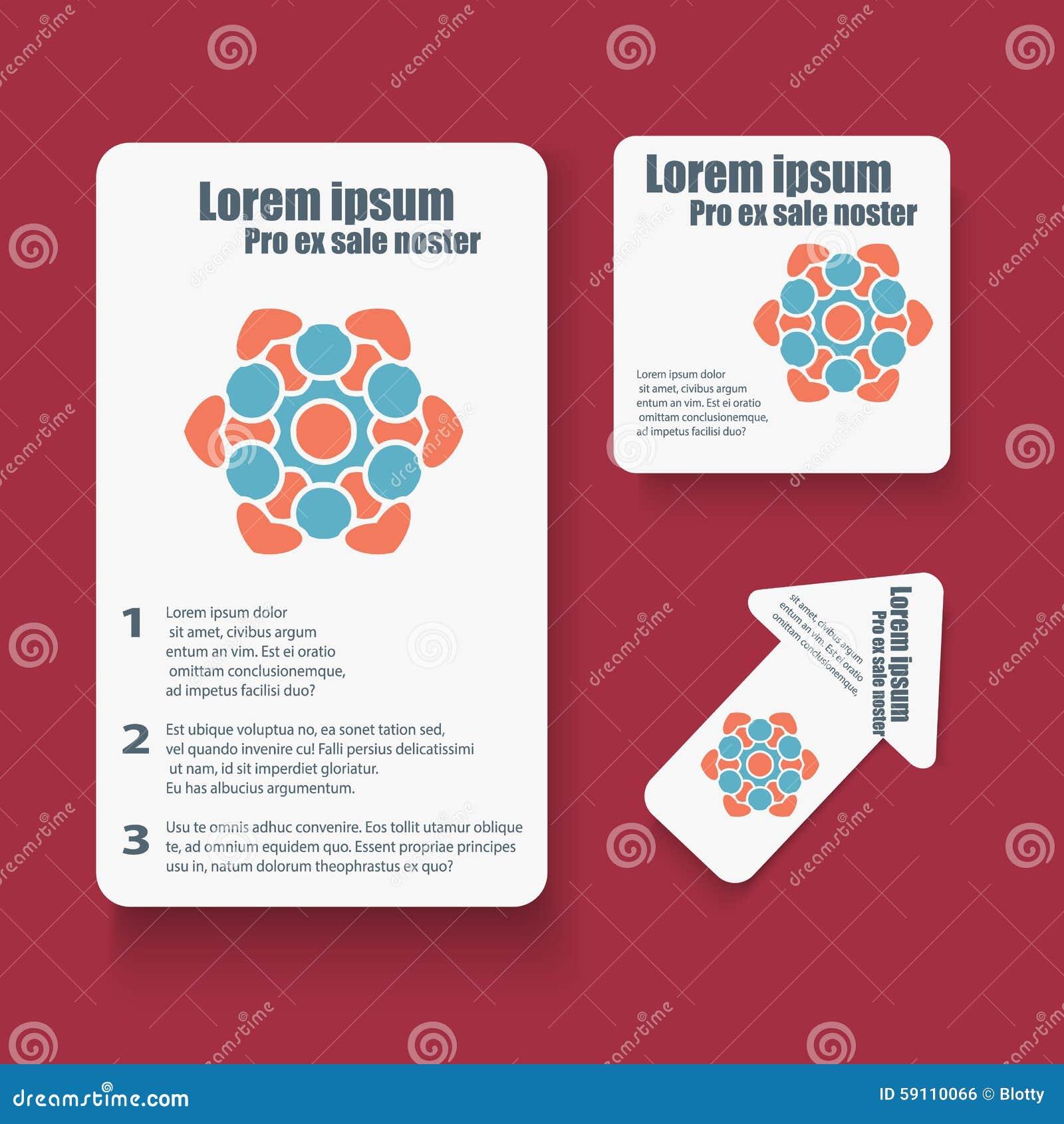 社会infographic的小册子设计,图