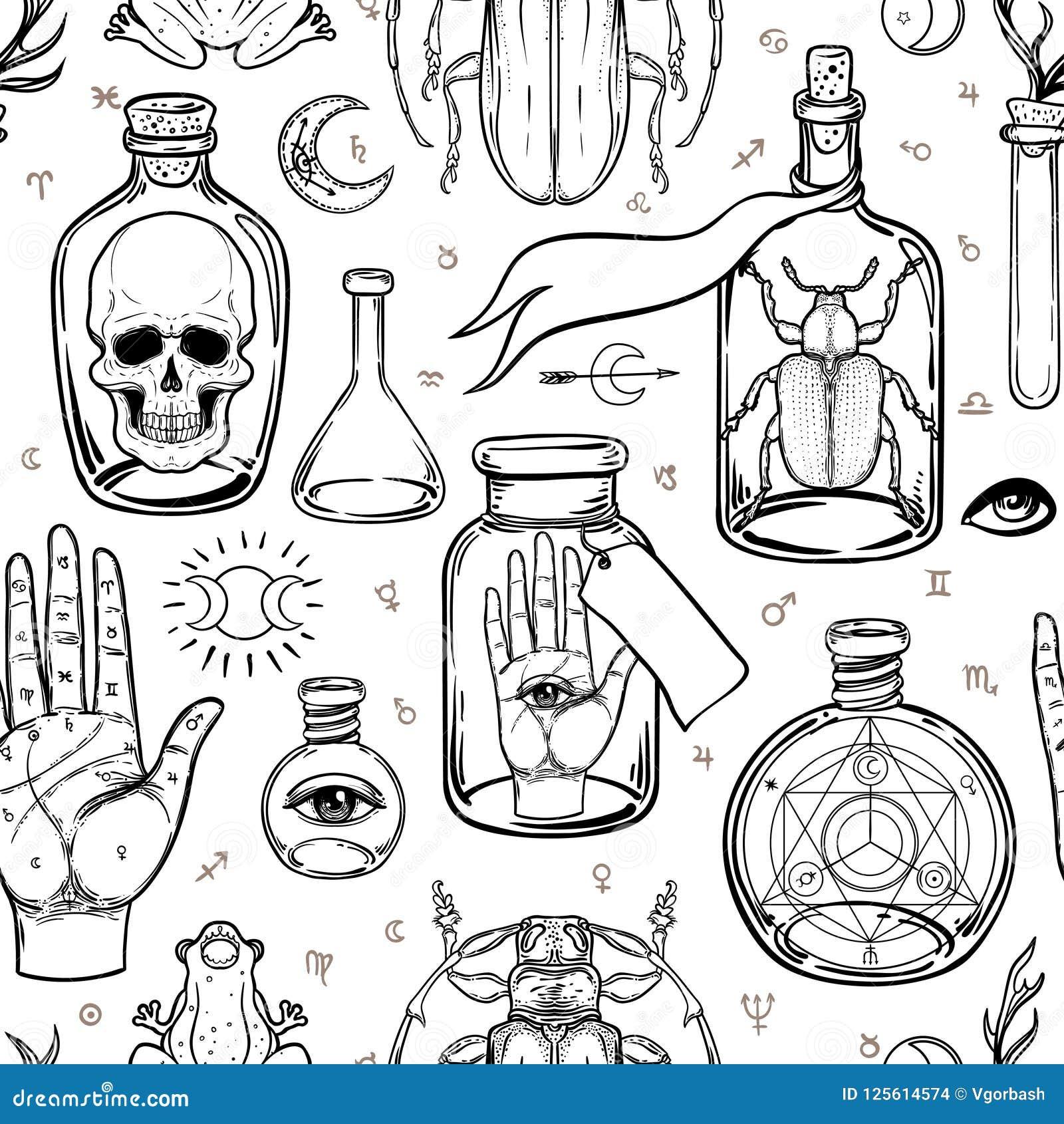 神秘主义者,魔术,背景 宗教和秘密主义与esote