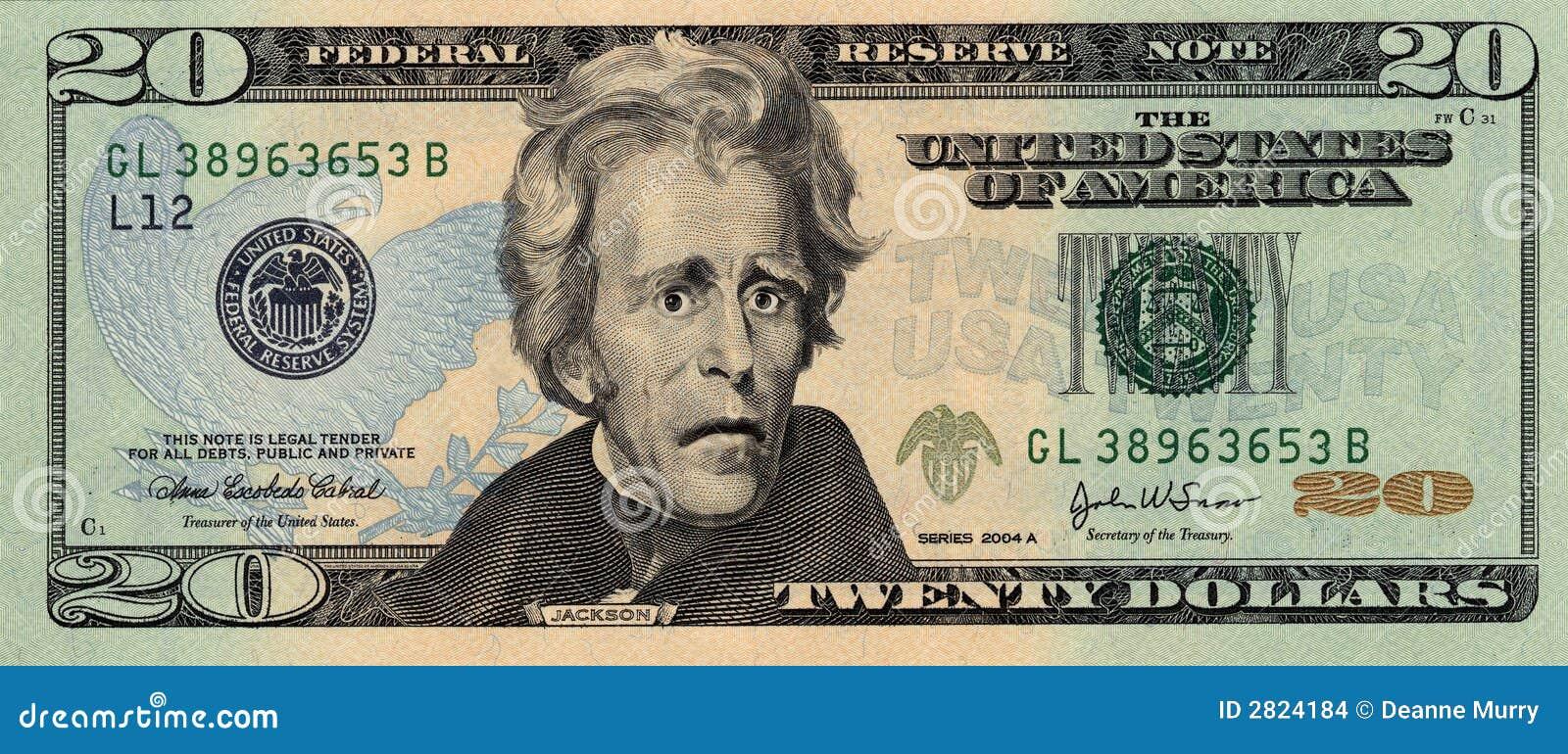 票据美元二十担心