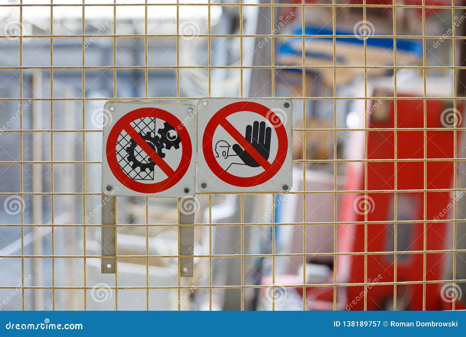 禁止的标志在生产的