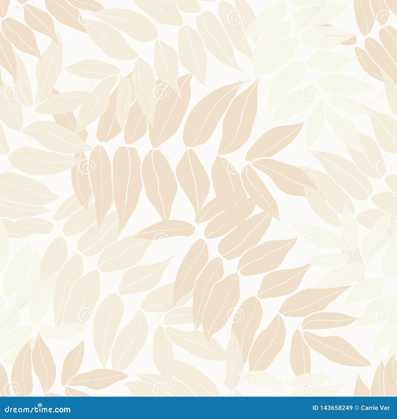 秀丽动画片热带无缝的叶子样式设计