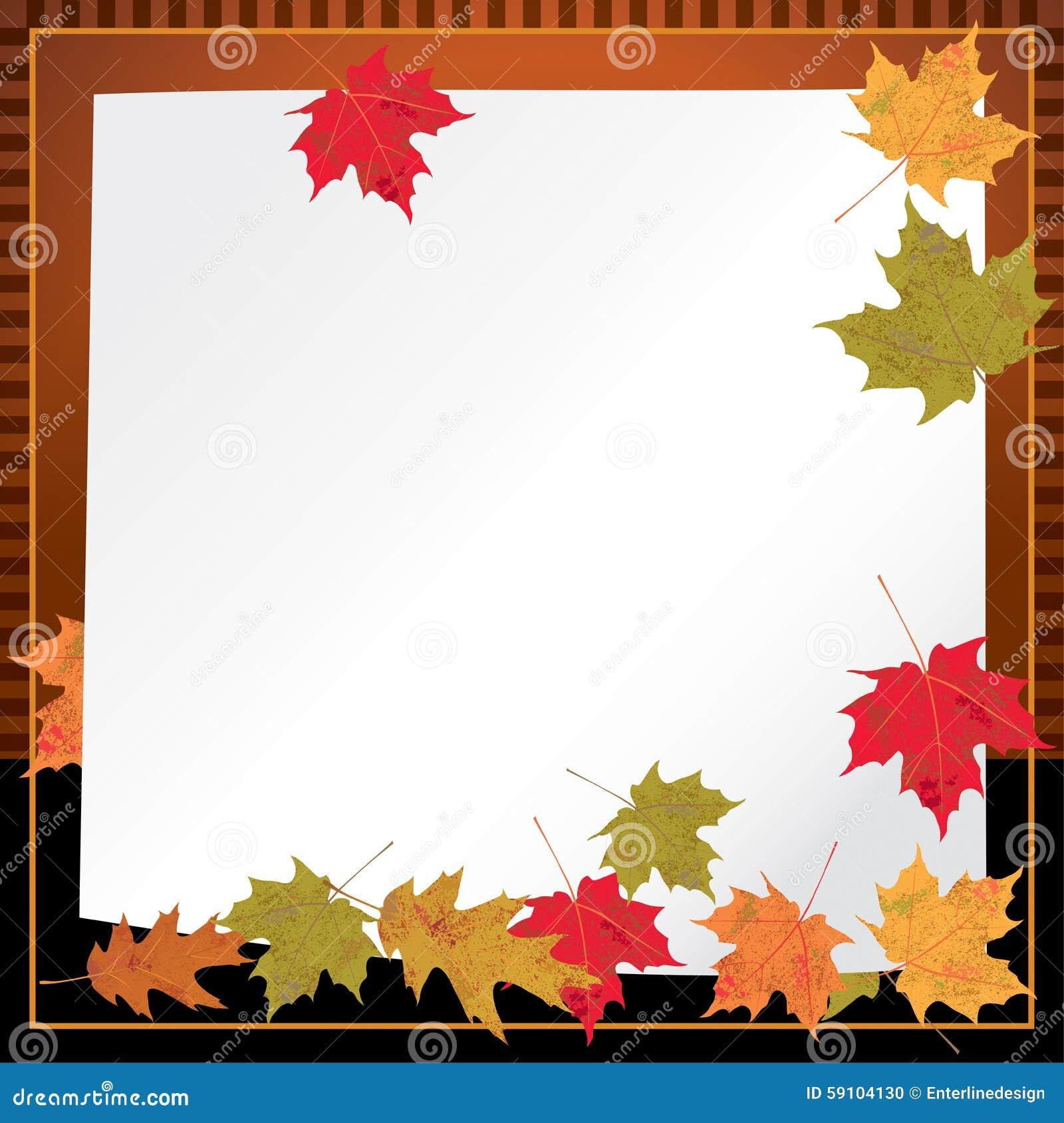 秋叶背景例证