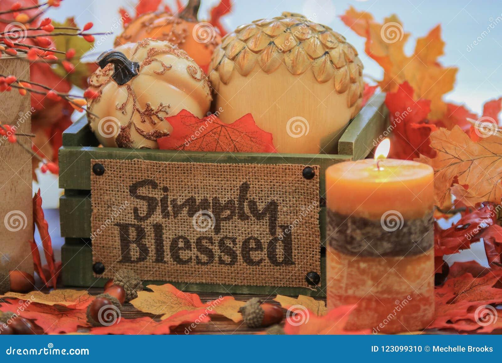 秋天南瓜和装饰