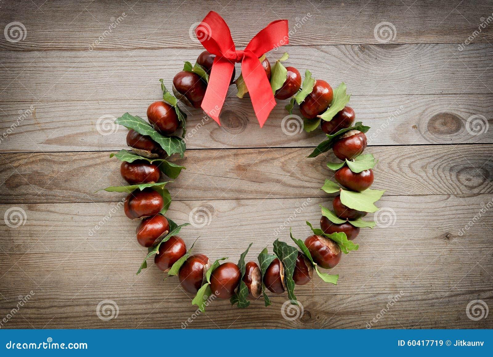 秋天和圣诞节背景,花圈