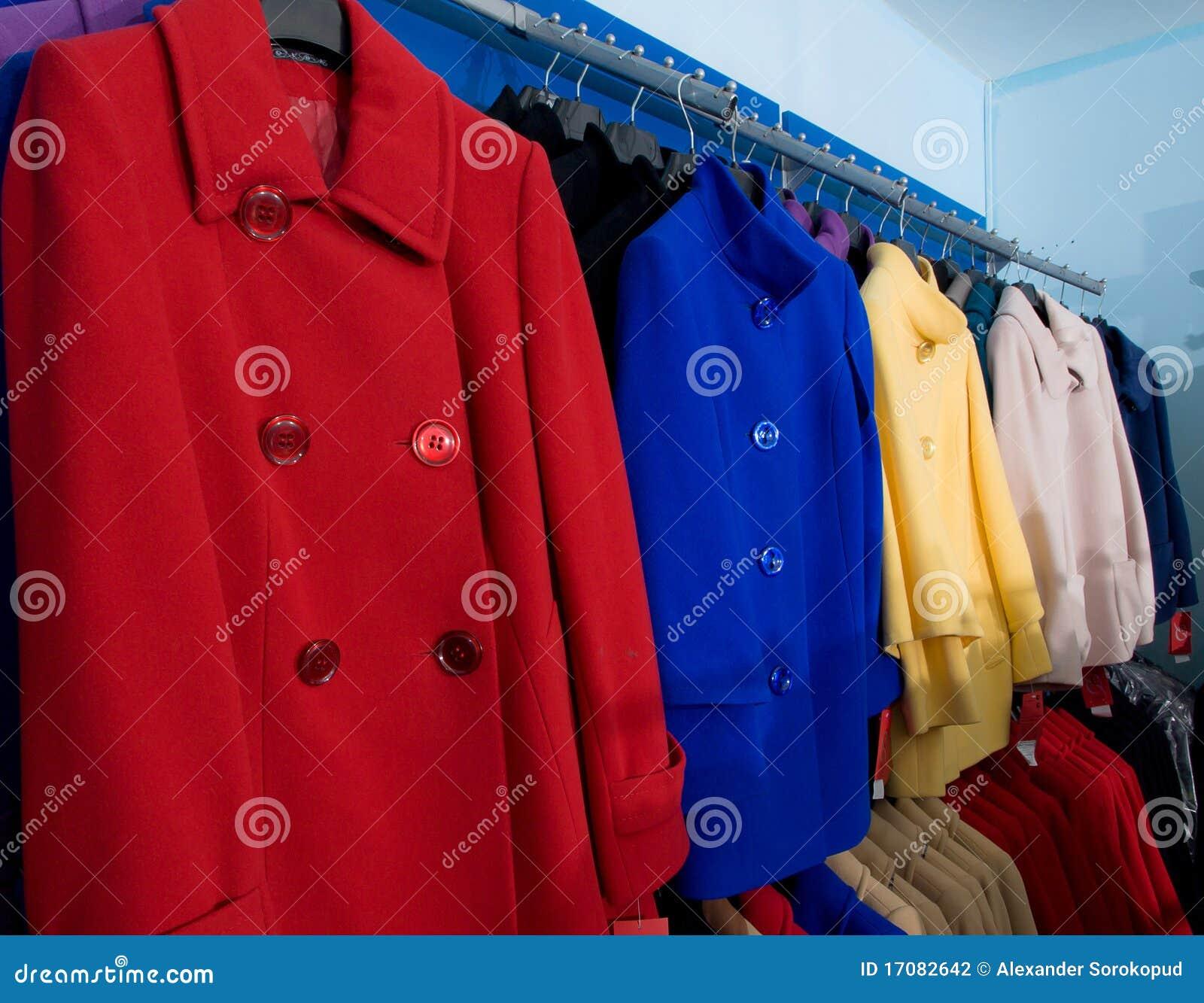 秋天外套五颜六色的女性界面