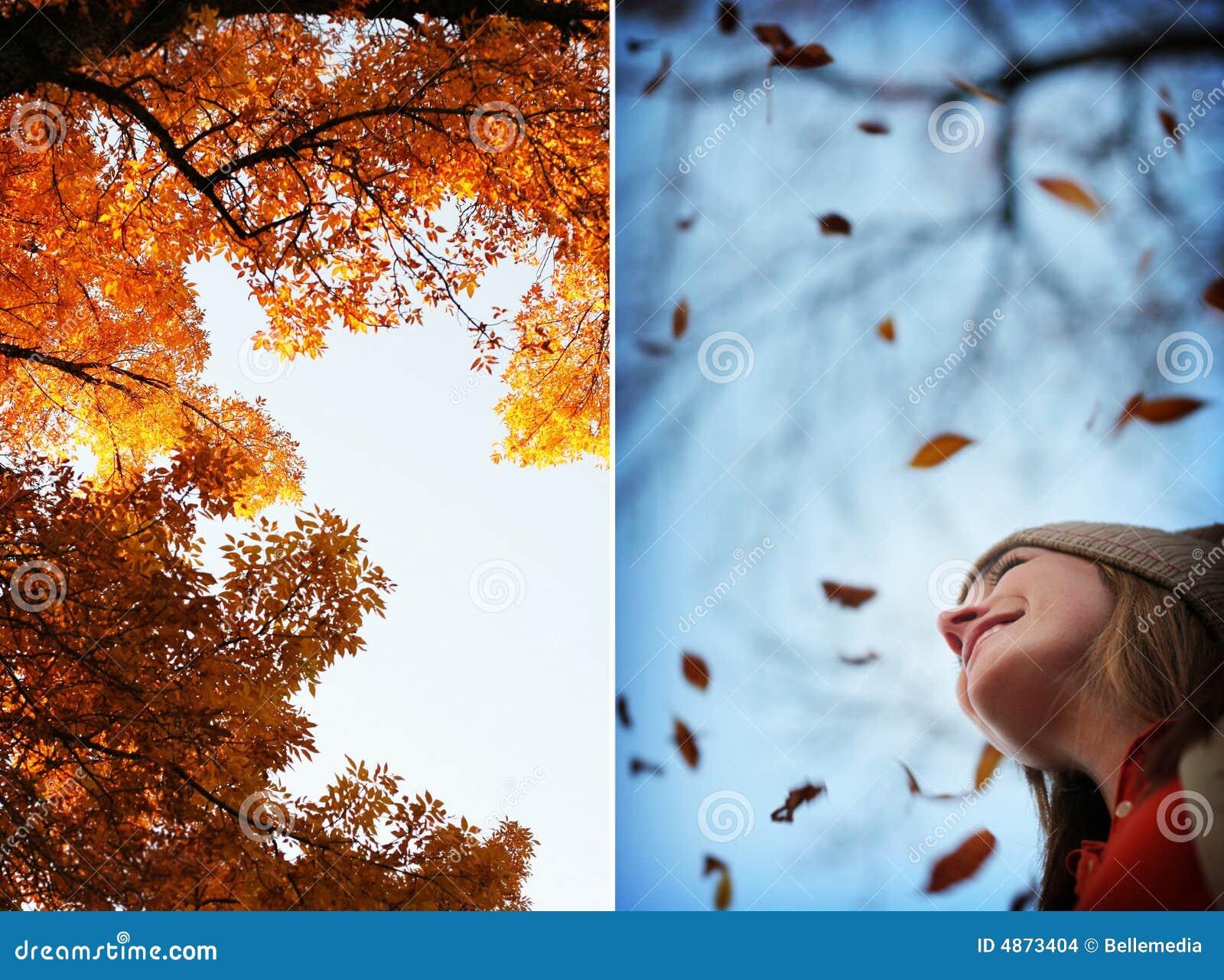 秋天方式妇女