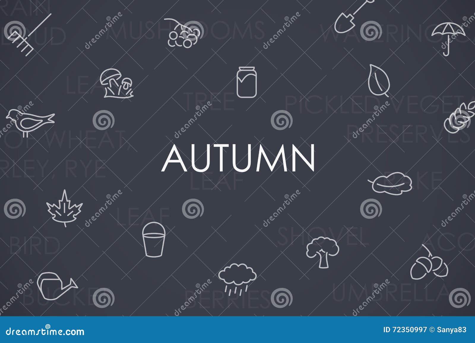 秋天稀薄的线象
