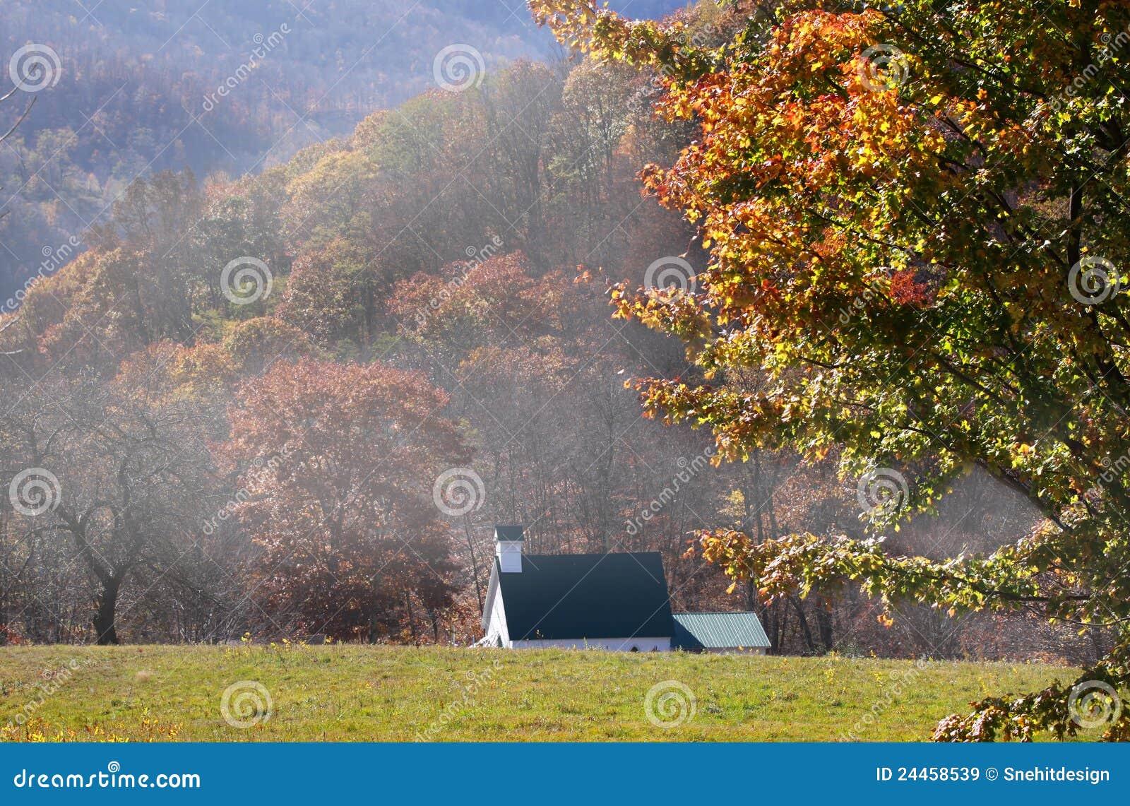 秋天西方的弗吉尼亚