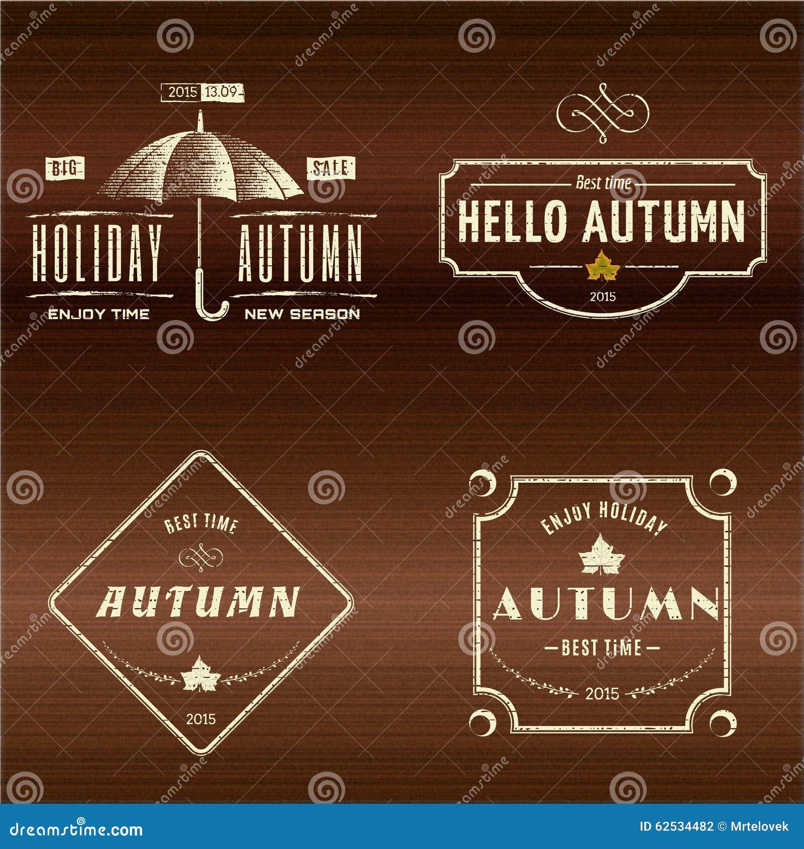 秋天证章商标和标签其中任一的用途