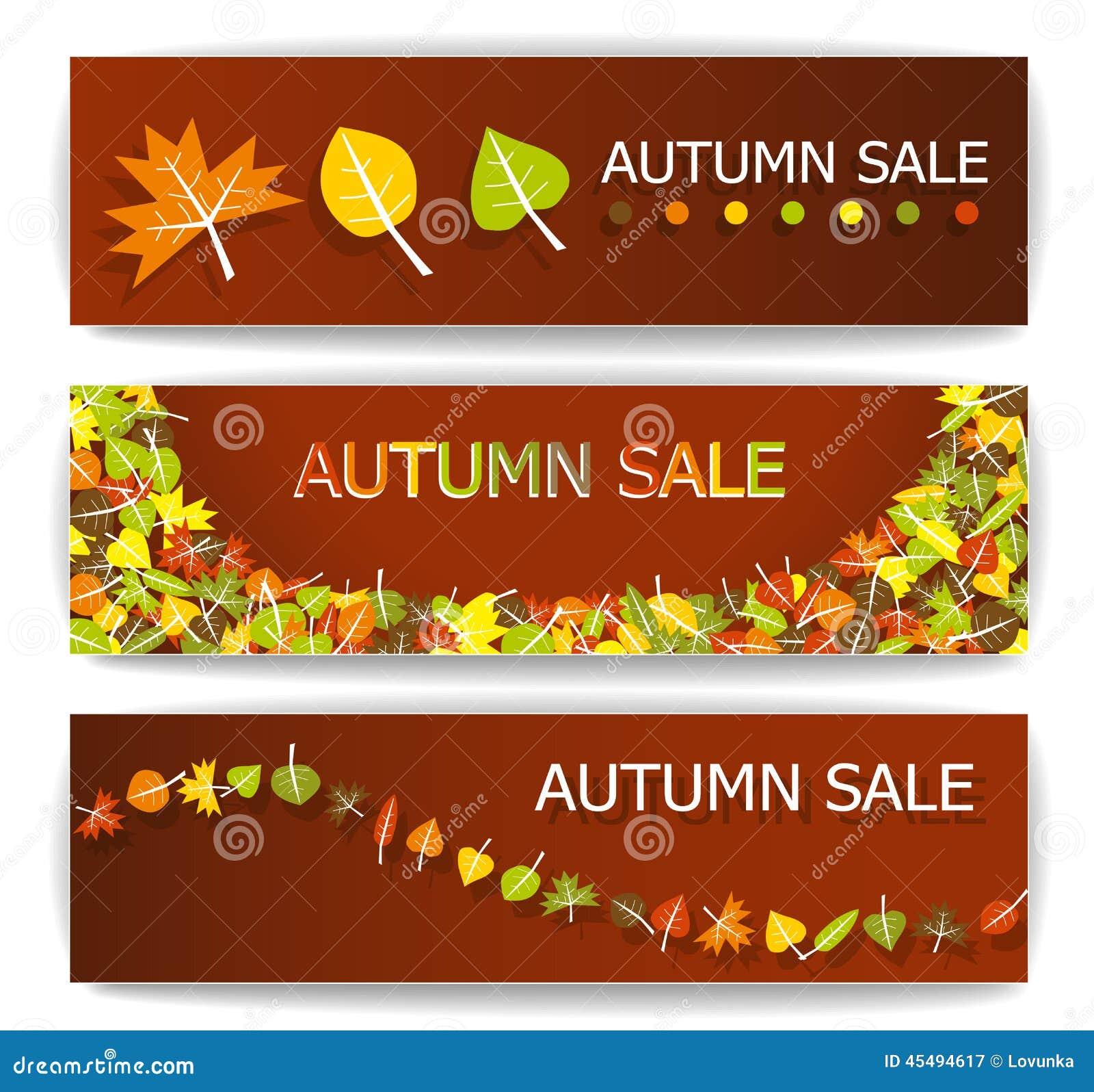秋天销售横幅