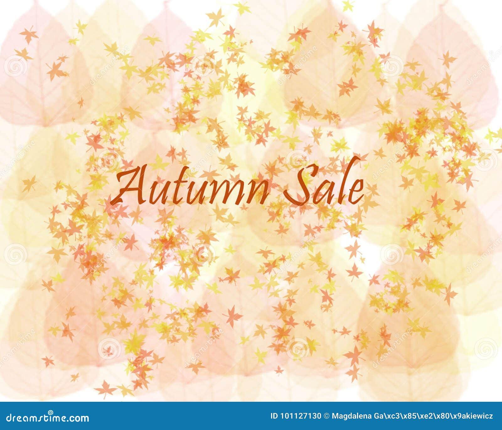 秋天销售背景