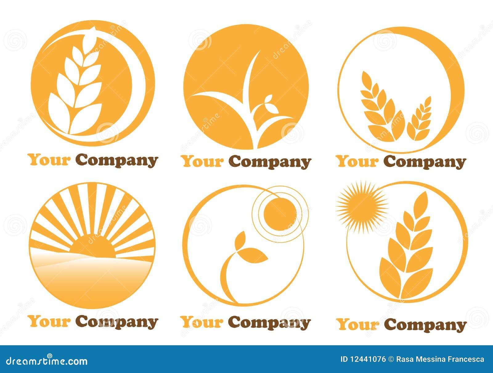 种田徽标的农业设置了六