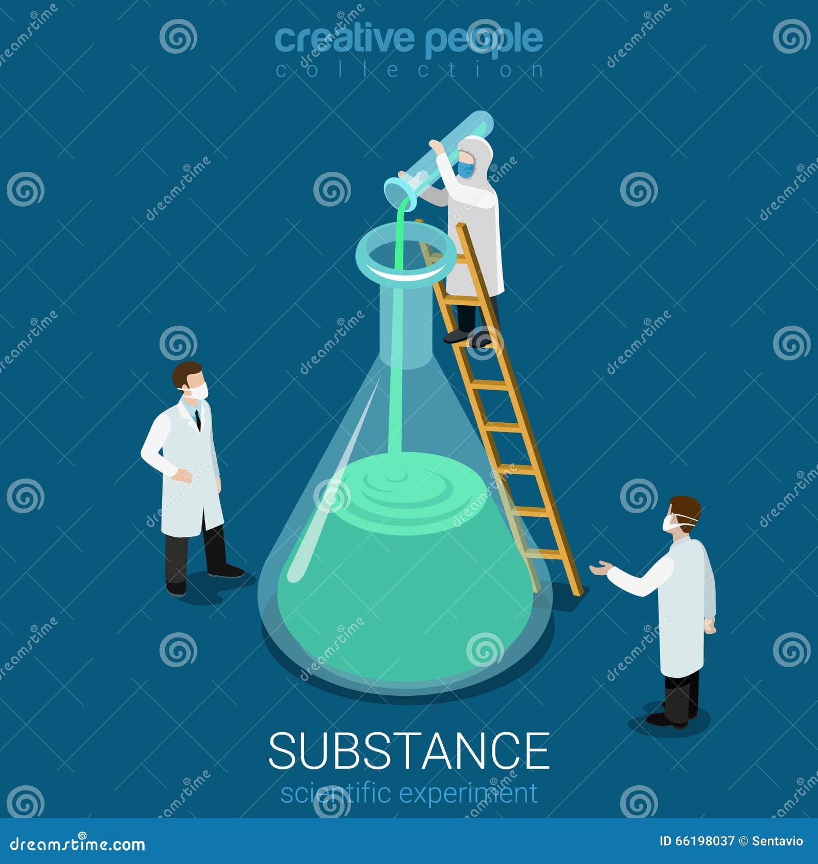 科学实验新的物质实验室平的传染媒介等量3d