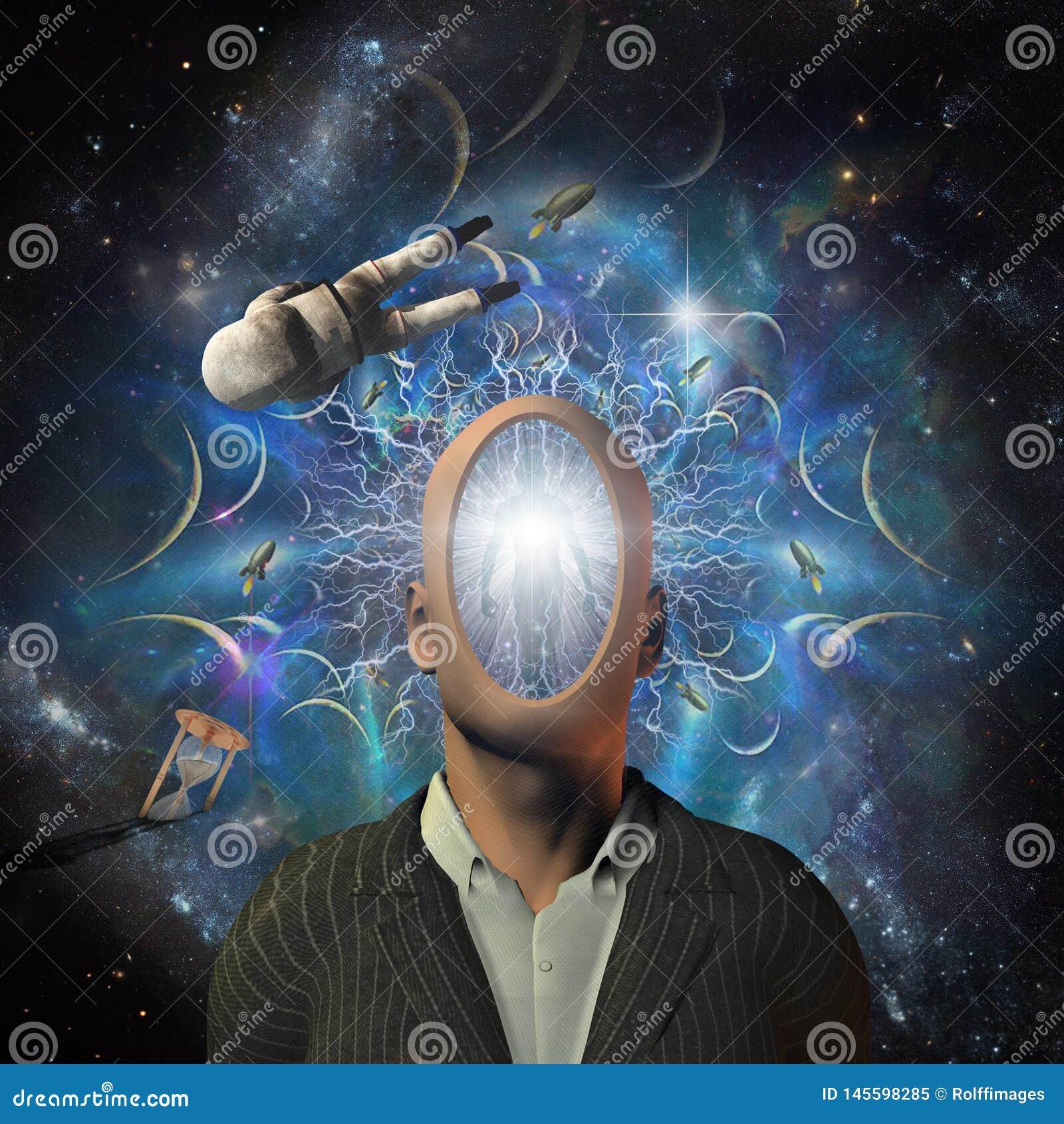 科学幻想小说超现实的场面