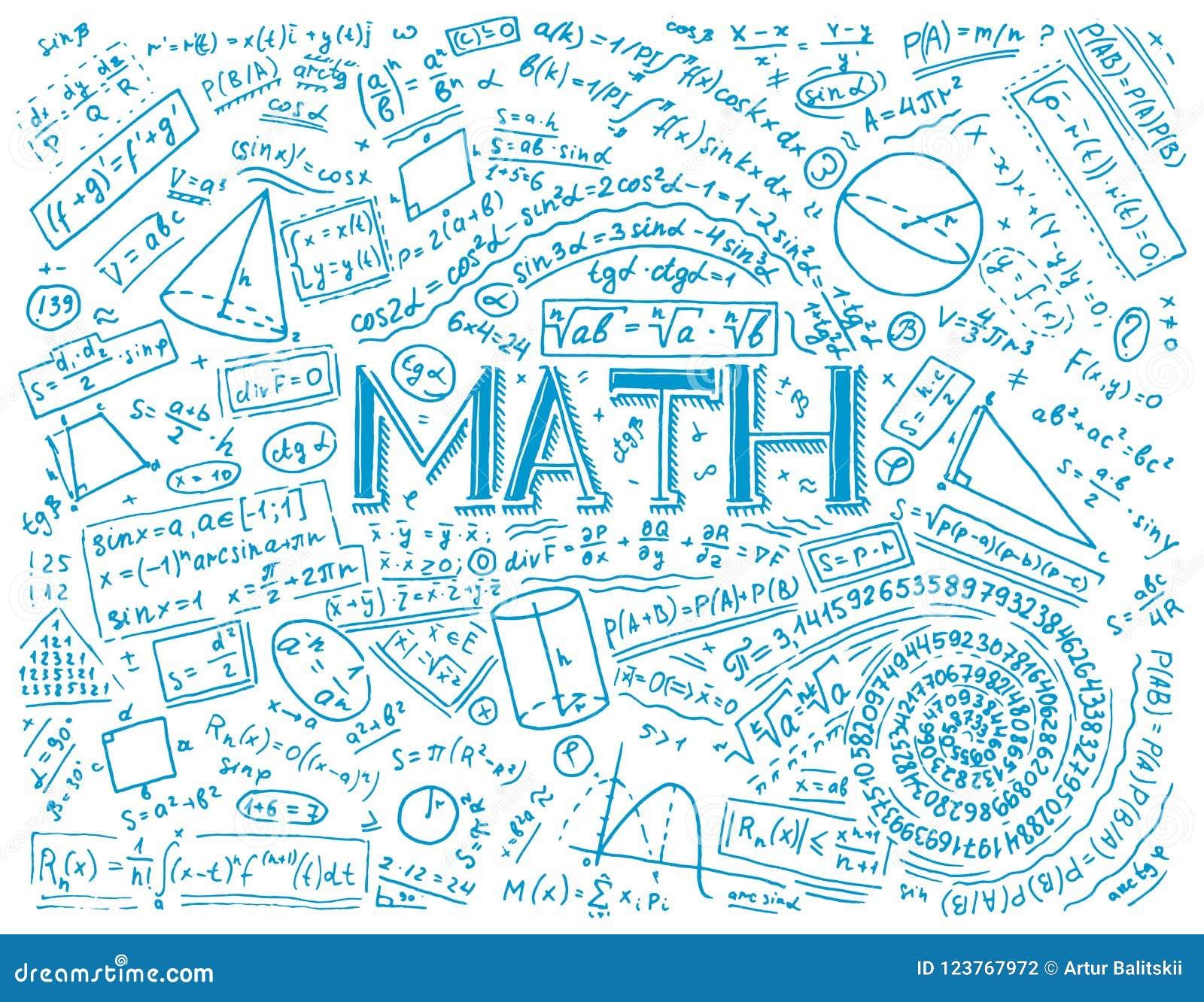 科学惯例和演算在物理和数学在whiteboard 代数和几何教训
