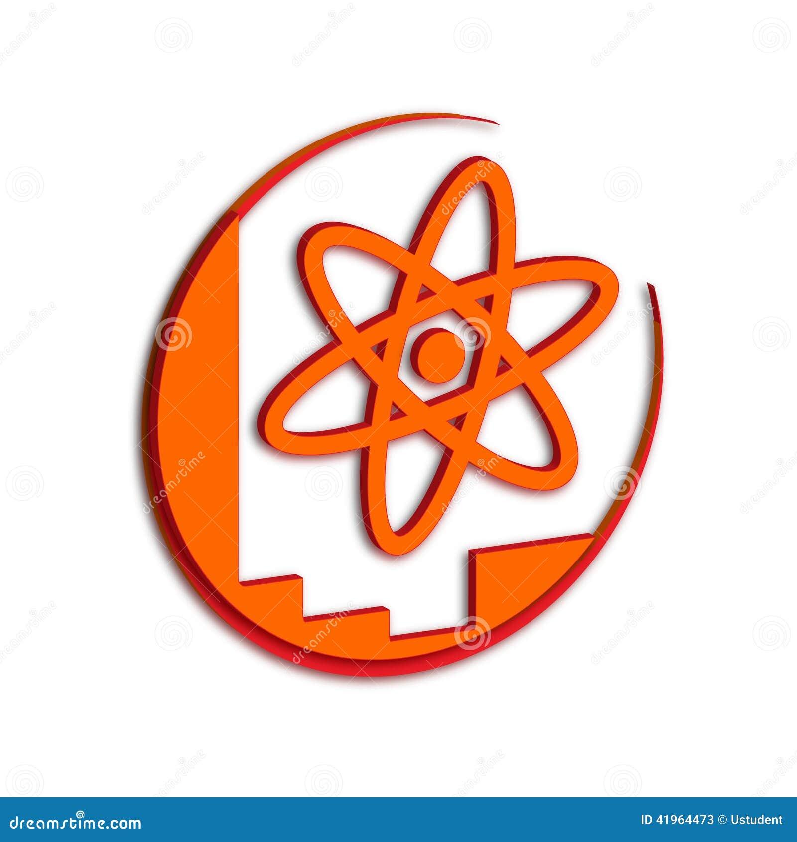 科学在白色背景的标志桔子.