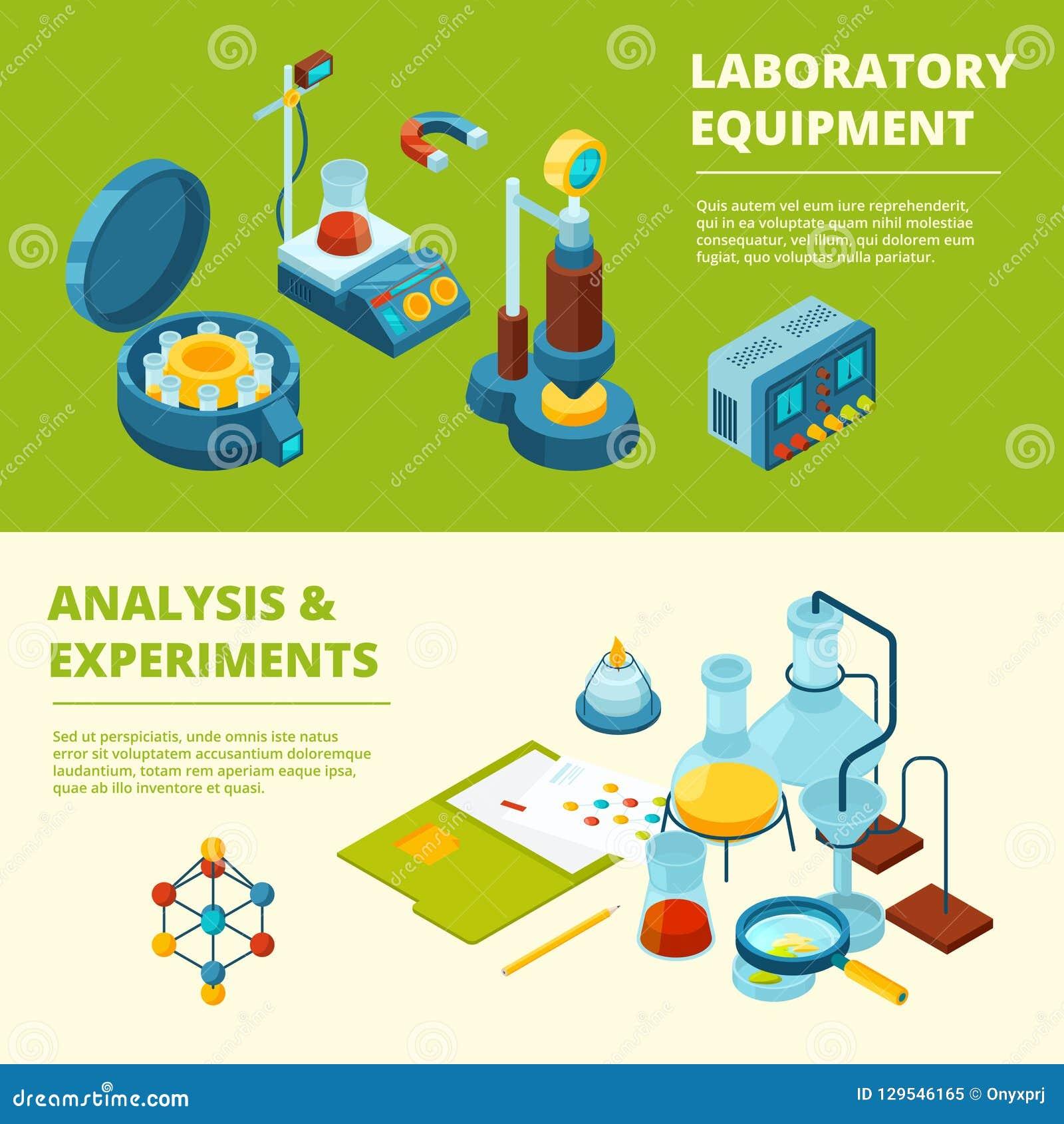 科学横幅 医疗或化工实验实验室室和设备导航等量图片