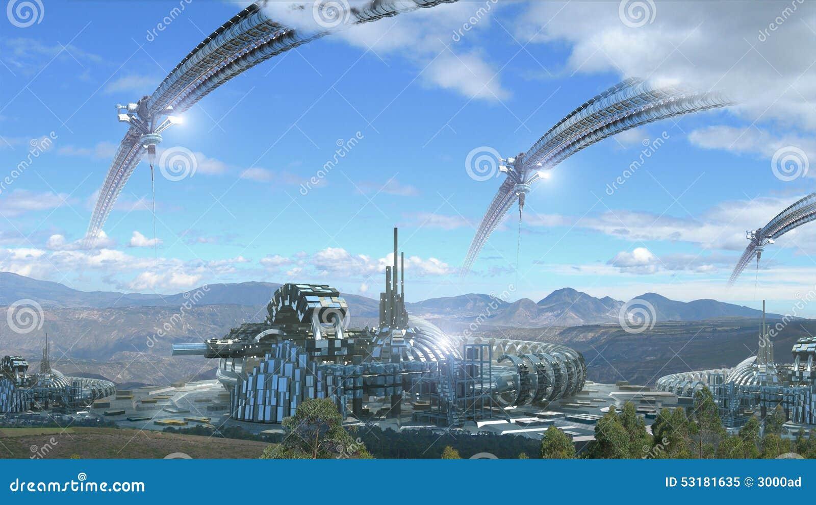 科学幻想小说与风景风景的建筑学综合