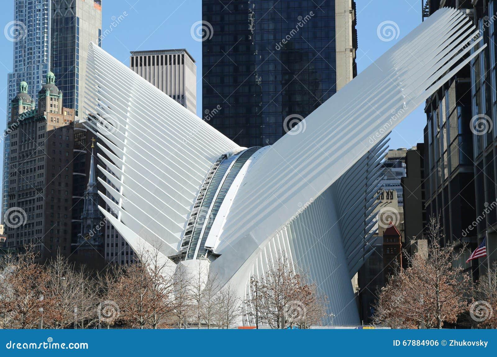 科技目前进步水平世界贸易中心运输插孔由圣地牙哥・卡拉特拉瓦设计了
