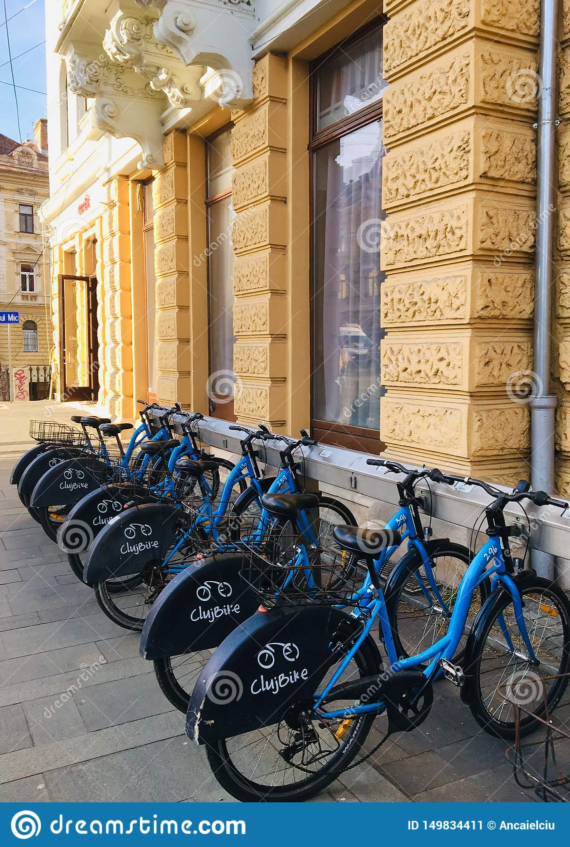 租的自行车在科鲁Napoca,罗马尼亚