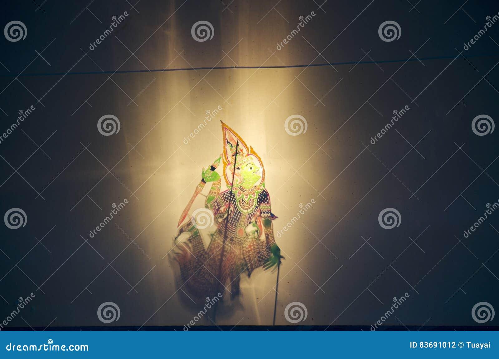 称Thai的阴影木偶Nang Talung是公众en的一个形式